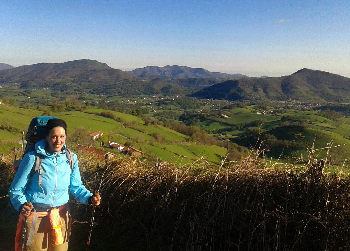 Audrey im Wanderland, Ibaneta Pass, Camino Francés, Wandern, Wandertour, Pilgern, Jakobsweg, Pyrenäeen, Frankreich, Spanien