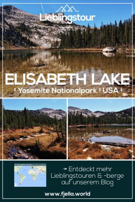Elisabeth Lake, Yosemite, USA, Nationalpark, Wandern, Berge