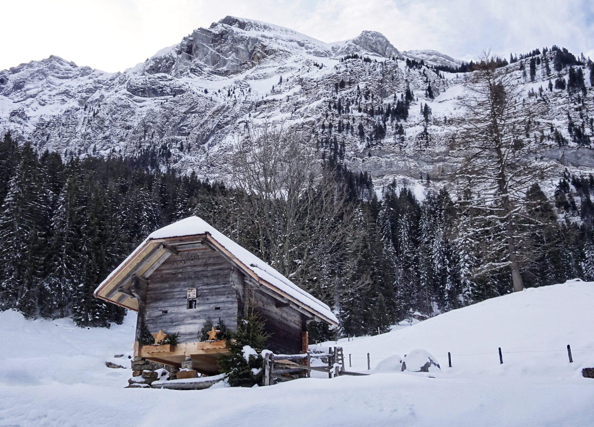 Schweiz, Luzern, Eigenthal, Winterwanderung Pilatus, Schneeschuhwandern