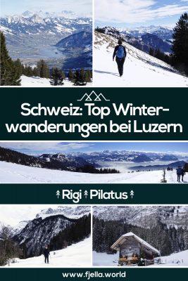 Schweiz, Luzern, Zürich, Winterwandern, Schneeschuhwandern, Pilatus, Rigi, Bürgenstock