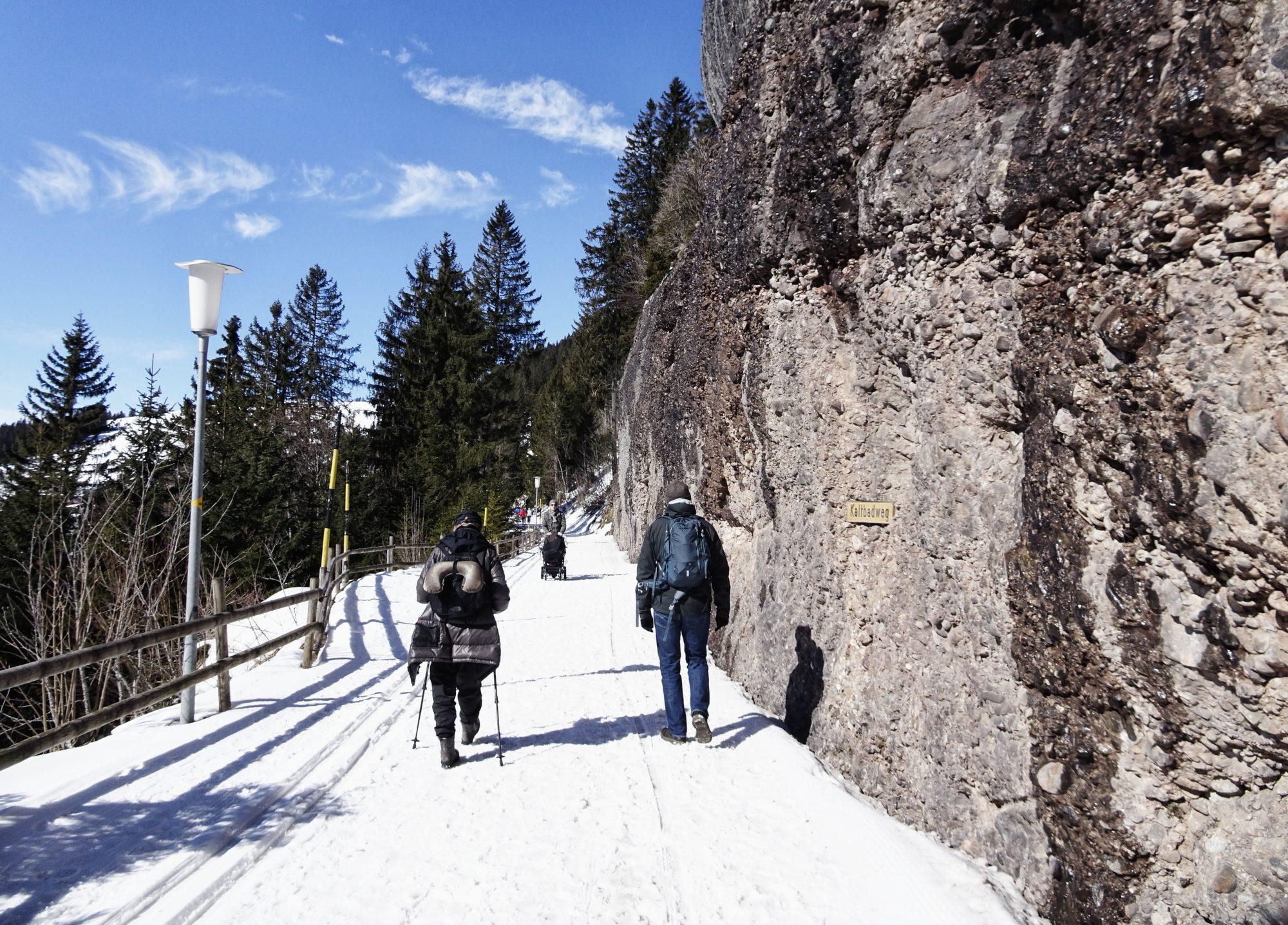 Schweiz, Luzern, Zürich, Rigi, Winterwanderung, Felsenweg
