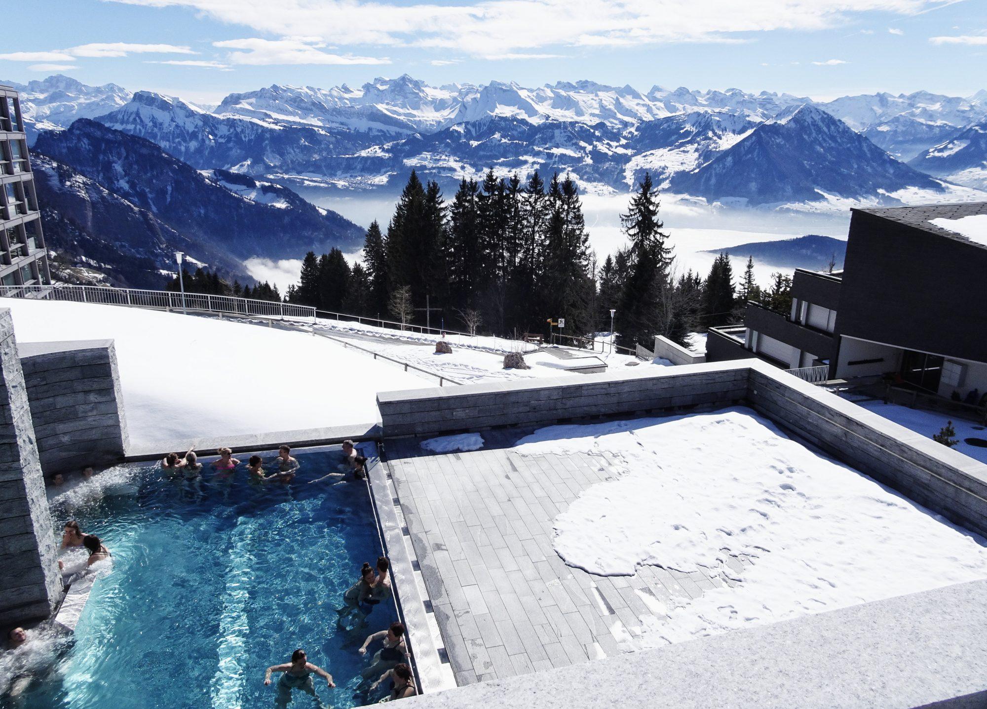 Schweiz, Luzern, Zürich, Rigi, Winterwanderung, Therme