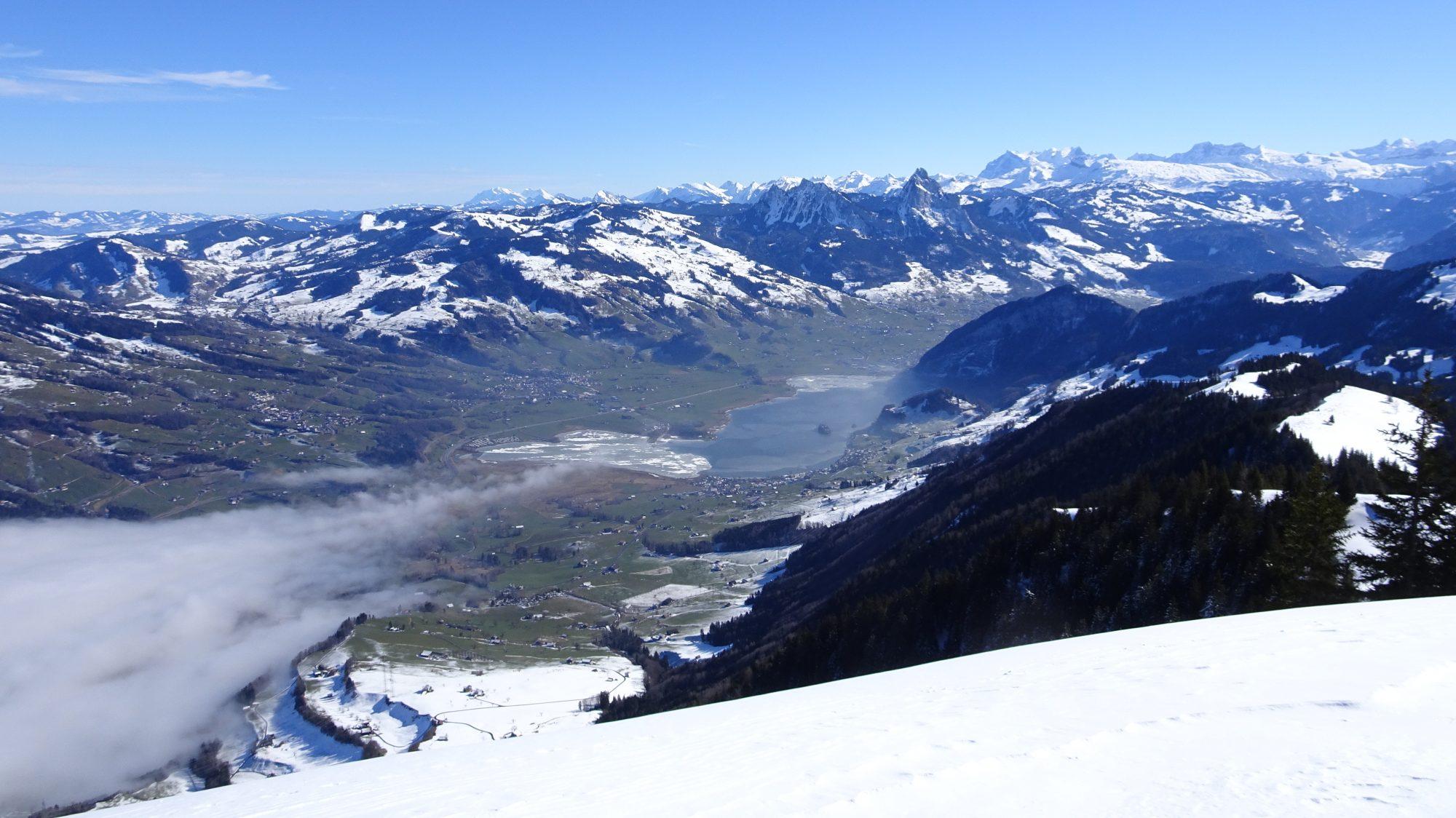 See, Schweiz, Luzern, Zürich, Rigi, Winterwanderung