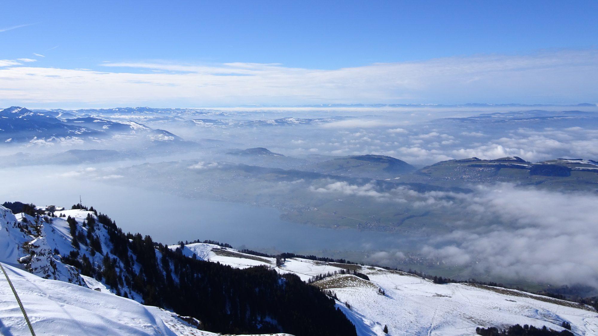 Schweiz, Luzern, Zürich, Rigi, Winterwanderung