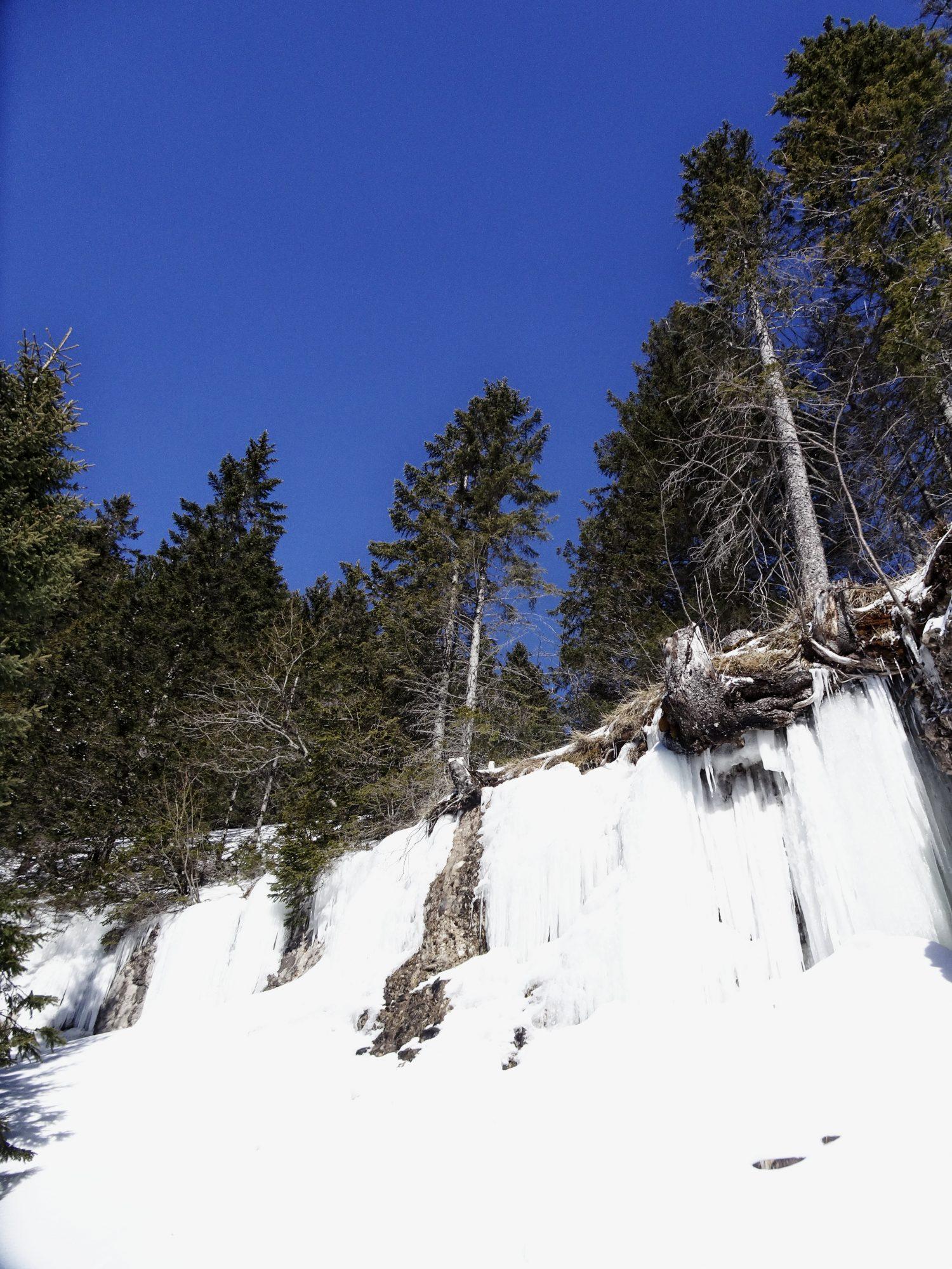 Schweiz, Luzern, Zürich, Rigi, Winterwanderung, Eis, gefrorener Wasserfall