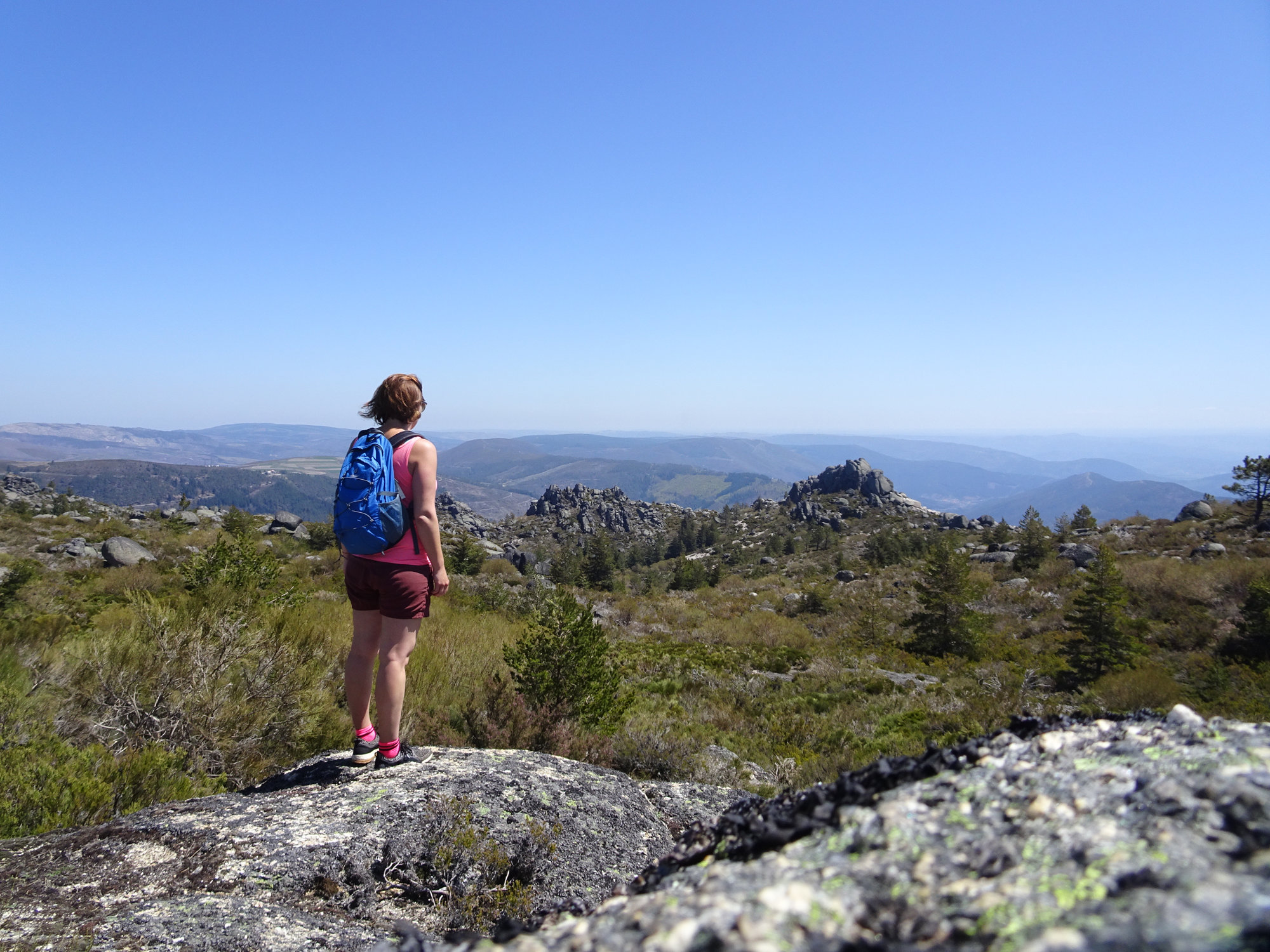 Carvão-Route, Wanderung, Rundwanderung, Serra da Estrella Portugal