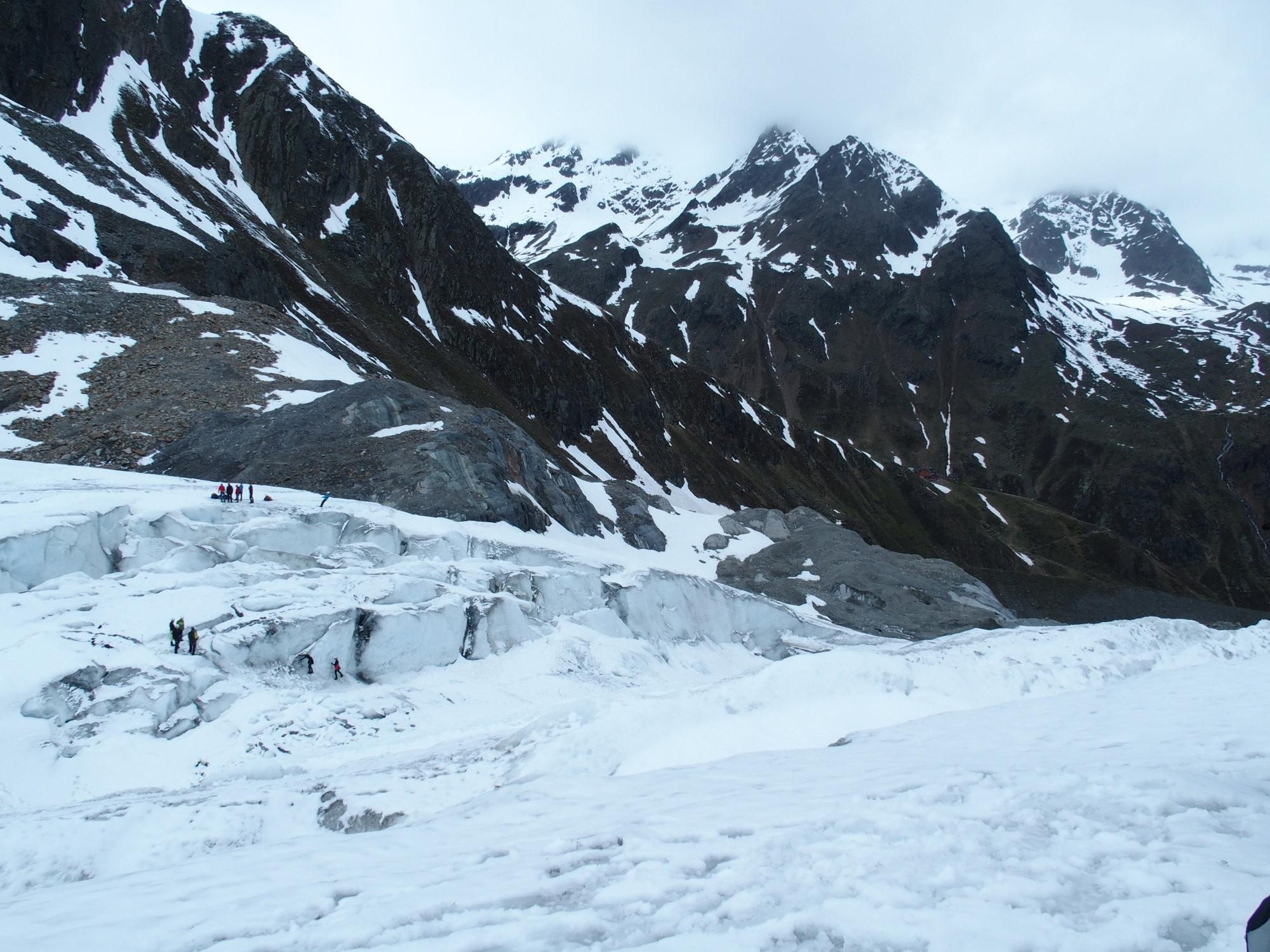 Gletscherkurs, Hochtour, Hochtourenkurs, Ausbildung, Bergsteigen, Gletscher, Kurs, Schulung, Pitztal, Taschachhaus, Fjella