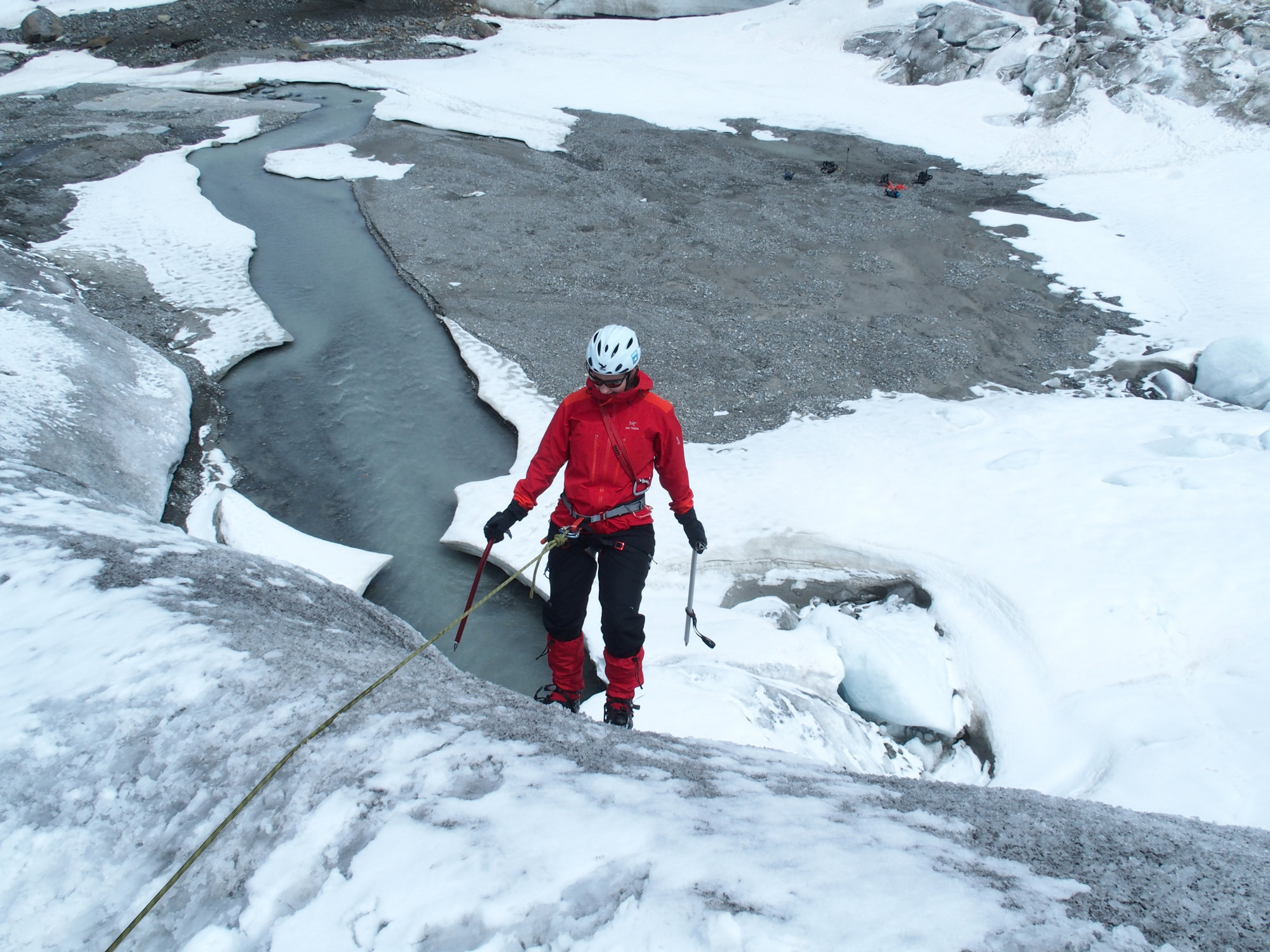 Abseilen, Eis, Gletscher, Gletscherkurs, Hochtour, Hochtourenkurs, Ausbildung, Bergsteigen, Gletscher, Kurs, Schulung, Pitztal, Taschachhaus, Fjella