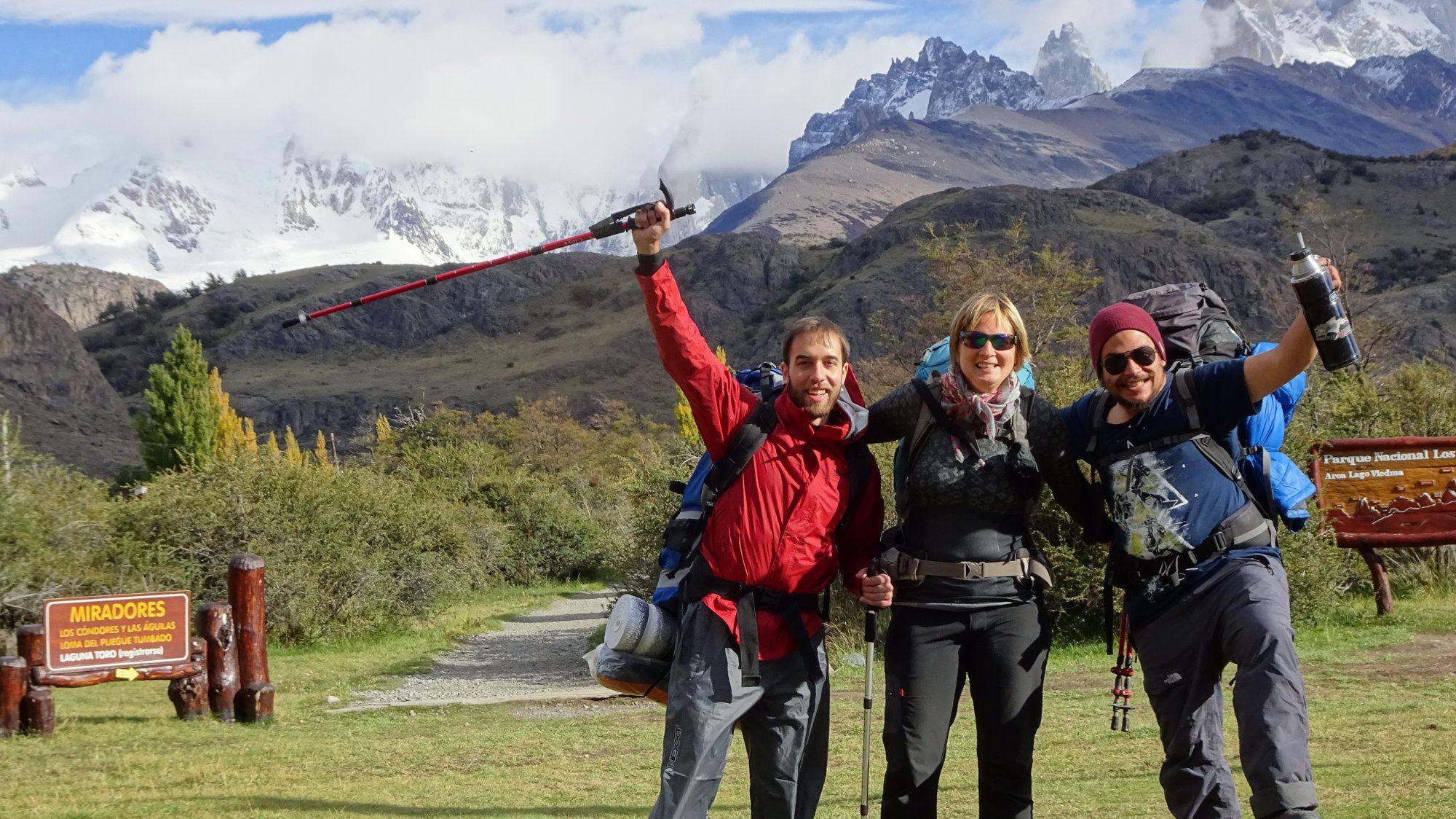 Start Huemul Circuit, Visitor Center, El Chaltén, Patagonien, Argentinien, Wanderung, Trekking