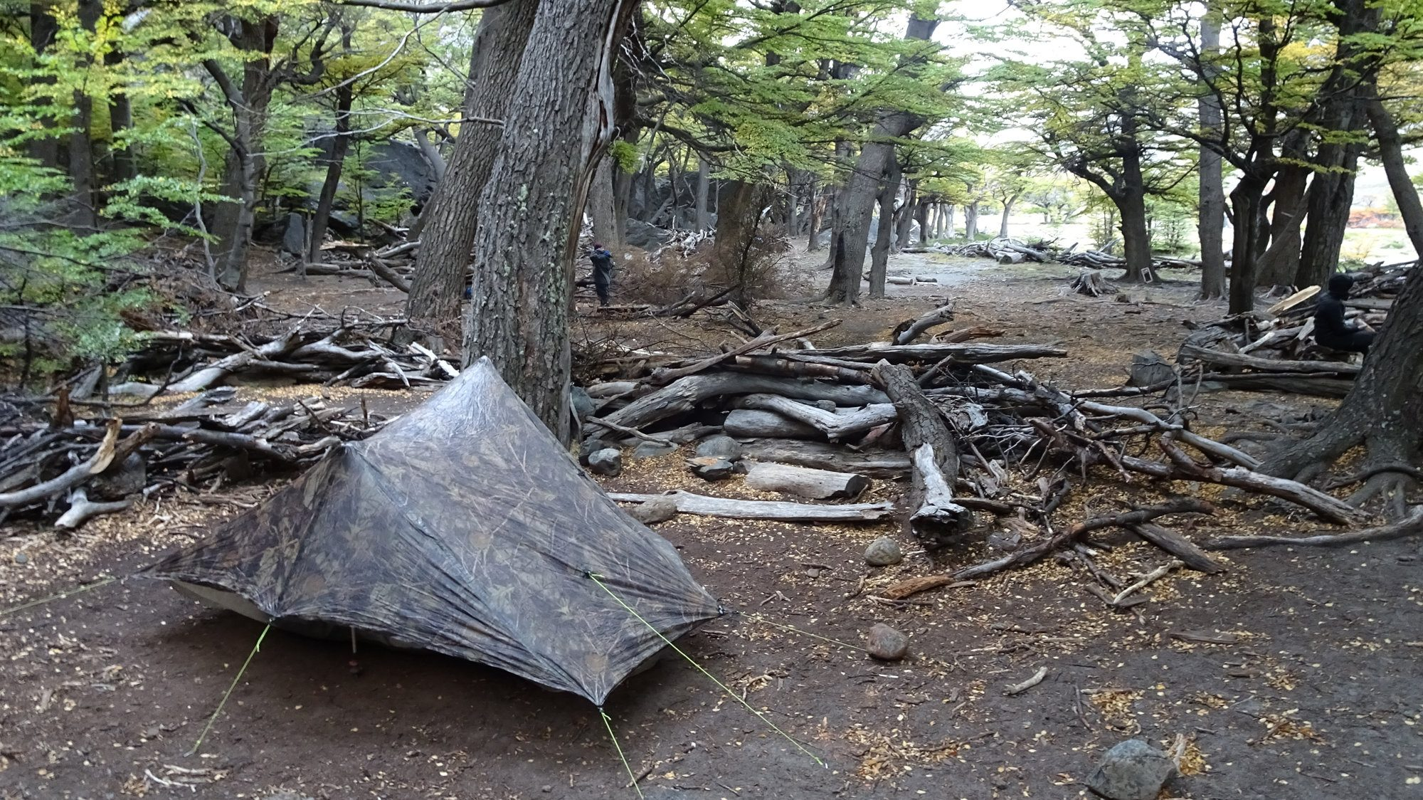Zelt m Laguna Toro Camping, Huemul Circuit, El Chaltén, Patagonien, Argentinien, Wanderung, Trekking