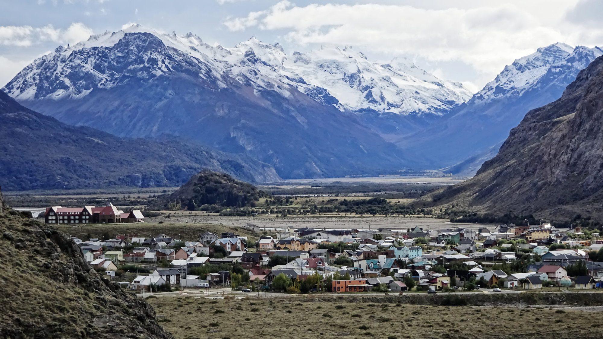 Blick auf El Chaltén,, Patagonien, Argentinien, Wanderung, Trekking