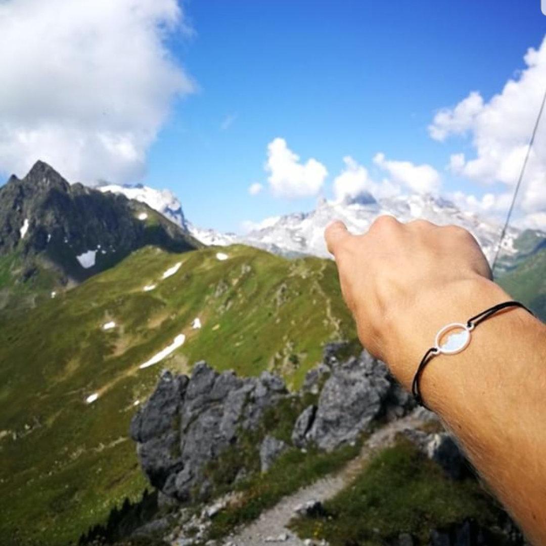 Alpenblick Armband in Aktion (c) Matthias Rist