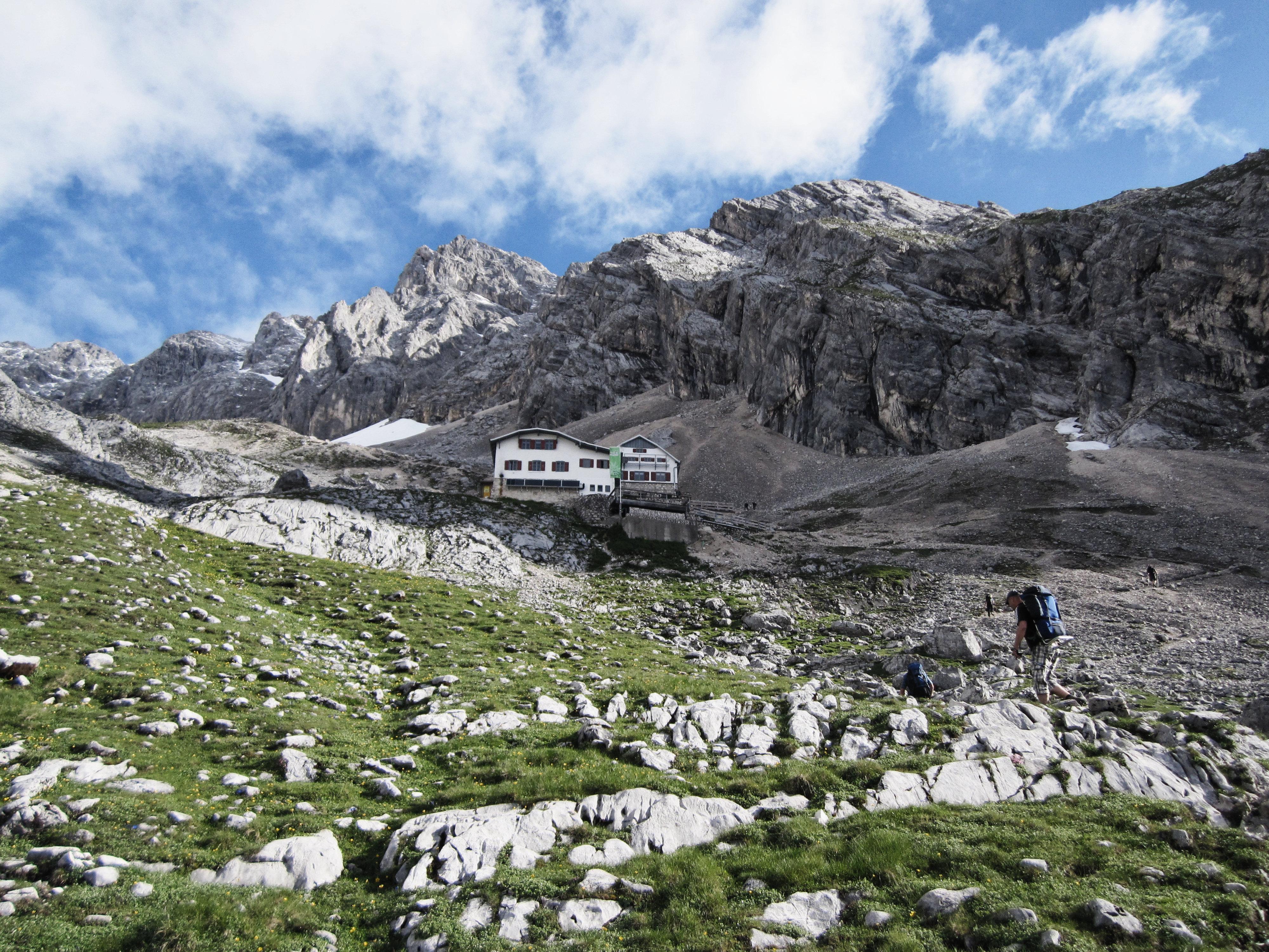 Knorrhütte in Sicht!, Durchs Reintal auf die Zugspitze Hüttentour Fjella