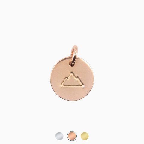 Bergfex Anhänger Groß Rosévergoldet Kletterberg Freigestellt Buttons Webseite
