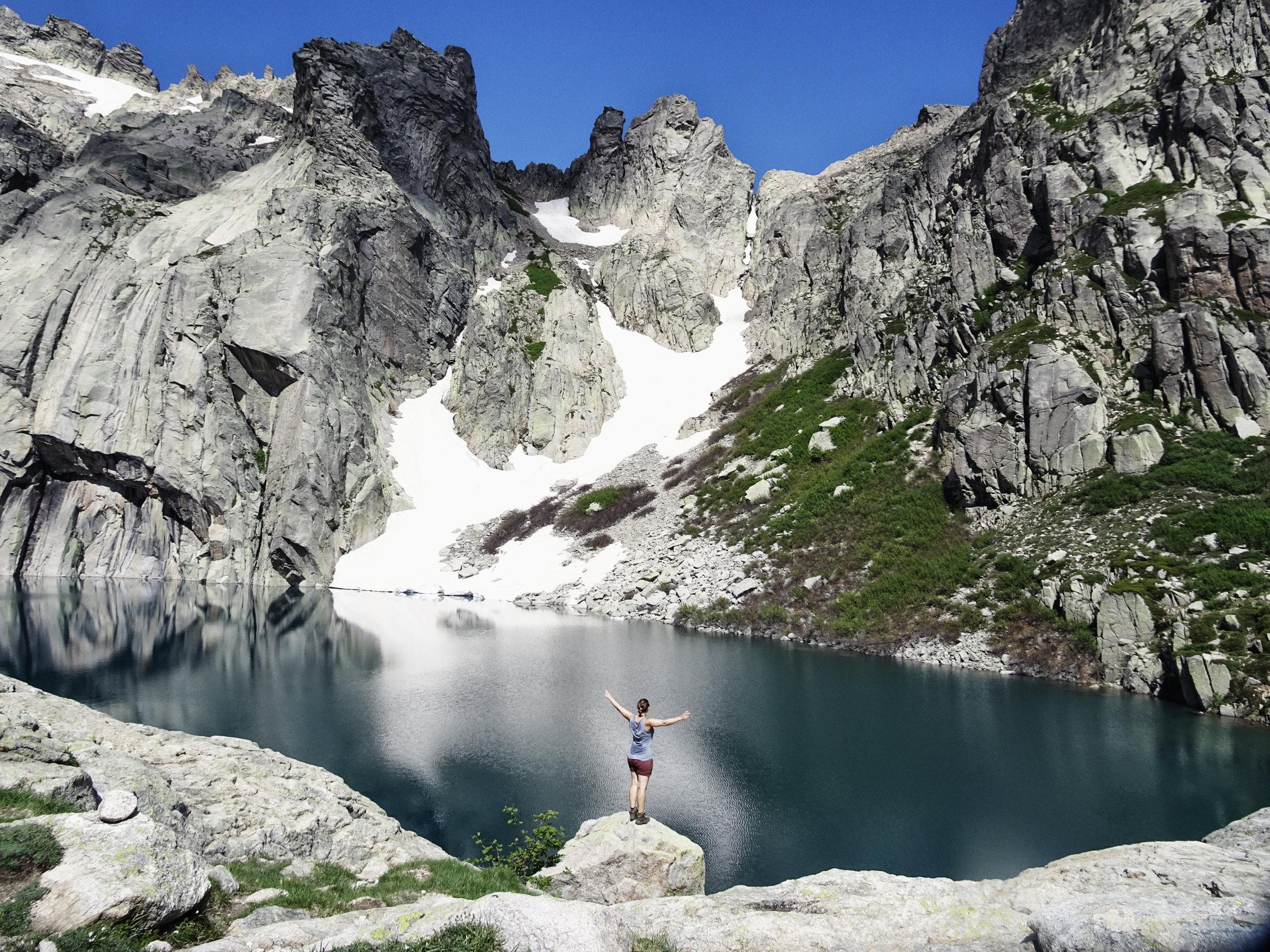 Mein Lieblingssee auf Korsika, der Capitello See, Korsika, GR20 Weitwanderweg, Wandern, Berge, Frankreich