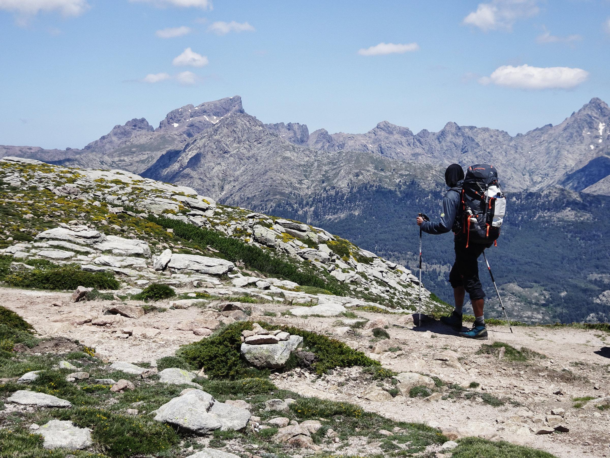 Immer im Blick: Die Paglia Orba, Königin der korsichen Berge, Korsika, GR20 Weitwanderweg, Wandern, Berge, Frankreich
