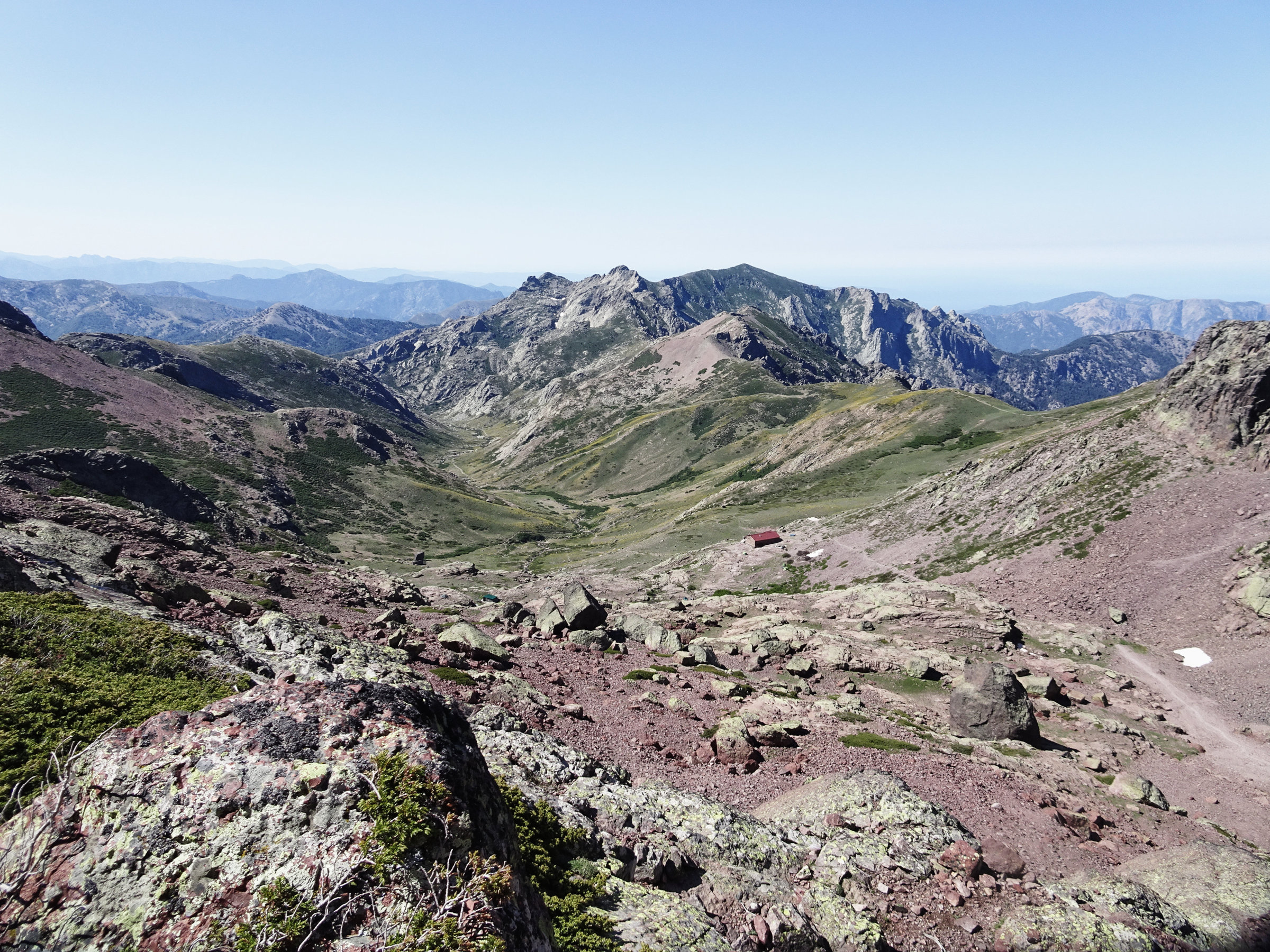Ciuttulu di i Mori, Korsika, GR20 Weitwanderweg, Wandern, Berge, Frankreich