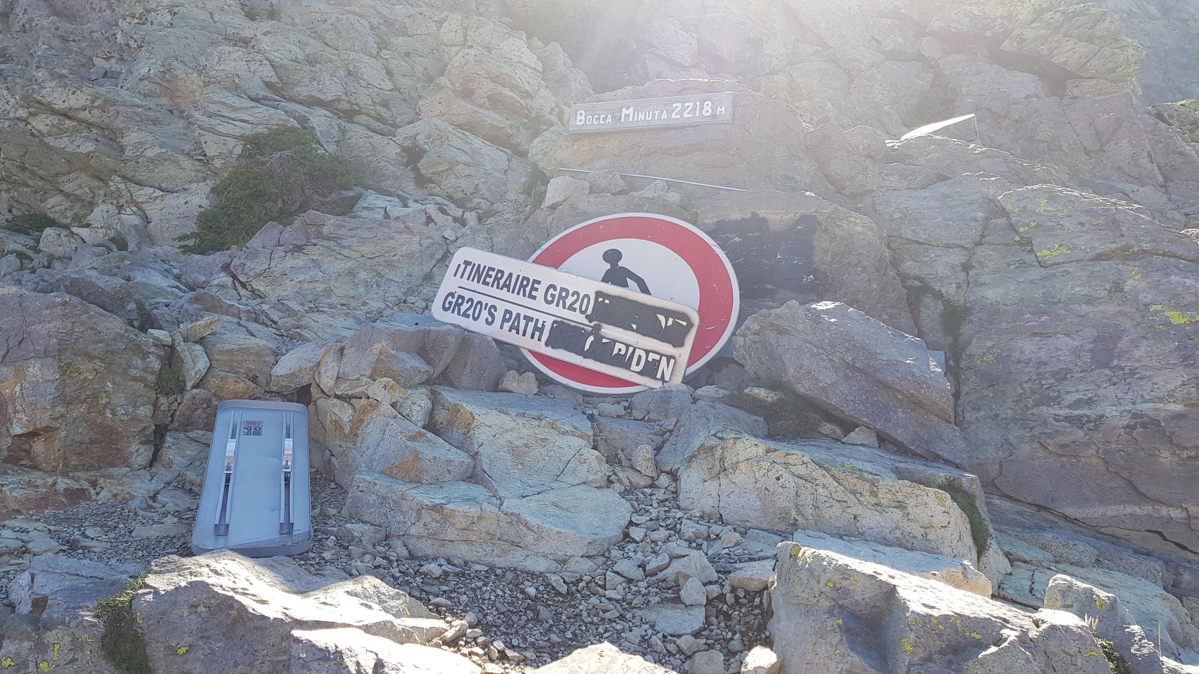 Bocca Minuta Korsika, GR20 Weitwanderweg, Wandern, Berge, Frankreich