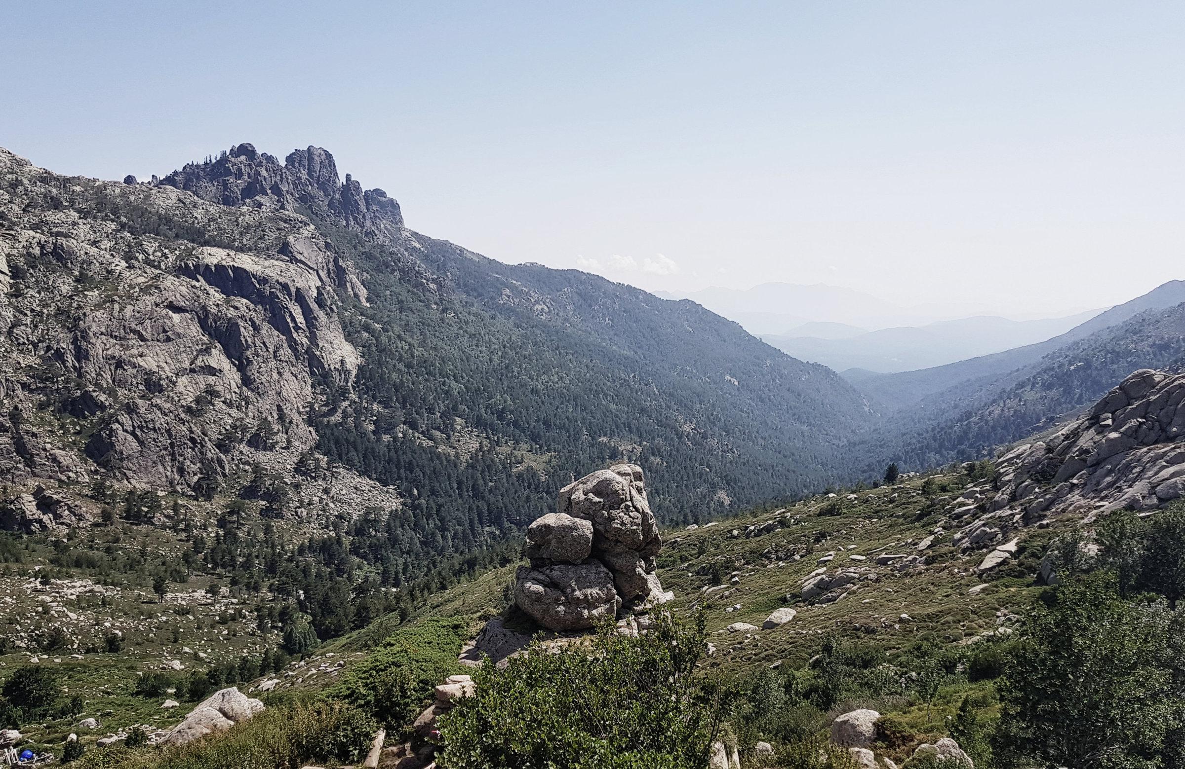 Was für ein Blick vom Zeltplatz!, Korsika, GR20 Weitwanderweg, Wandern, Berge, Frankreich