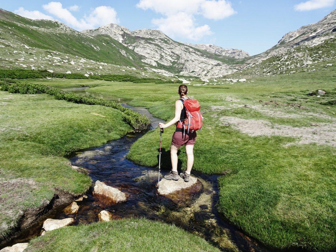Pozzi Hochmoor, Korsika, GR20 Weitwanderweg, Wandern, Berge, Frankreich