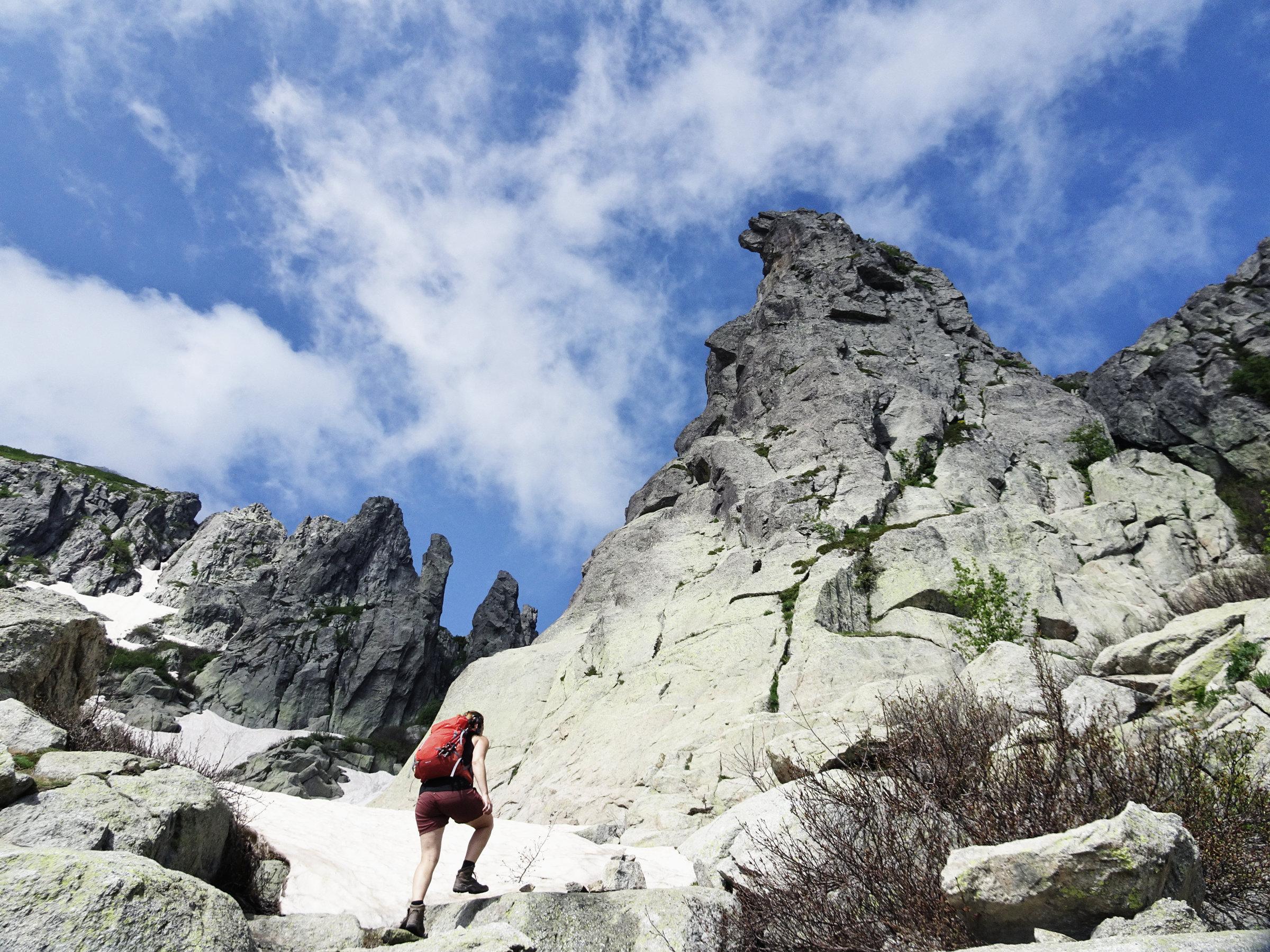 Monte d'Oro, Korsika, GR20 Weitwanderweg, Wandern, Berge, Frankreich