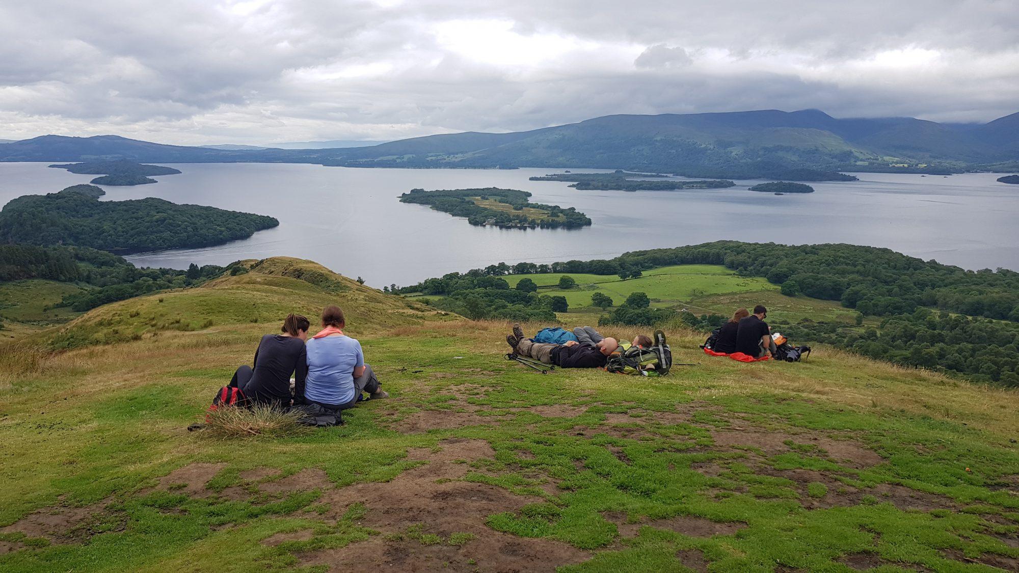 Aussichtshügel beim Conic Hill, West Highland Way, Schottland, Wanderung, Weitwandern, Trekking, Highlands