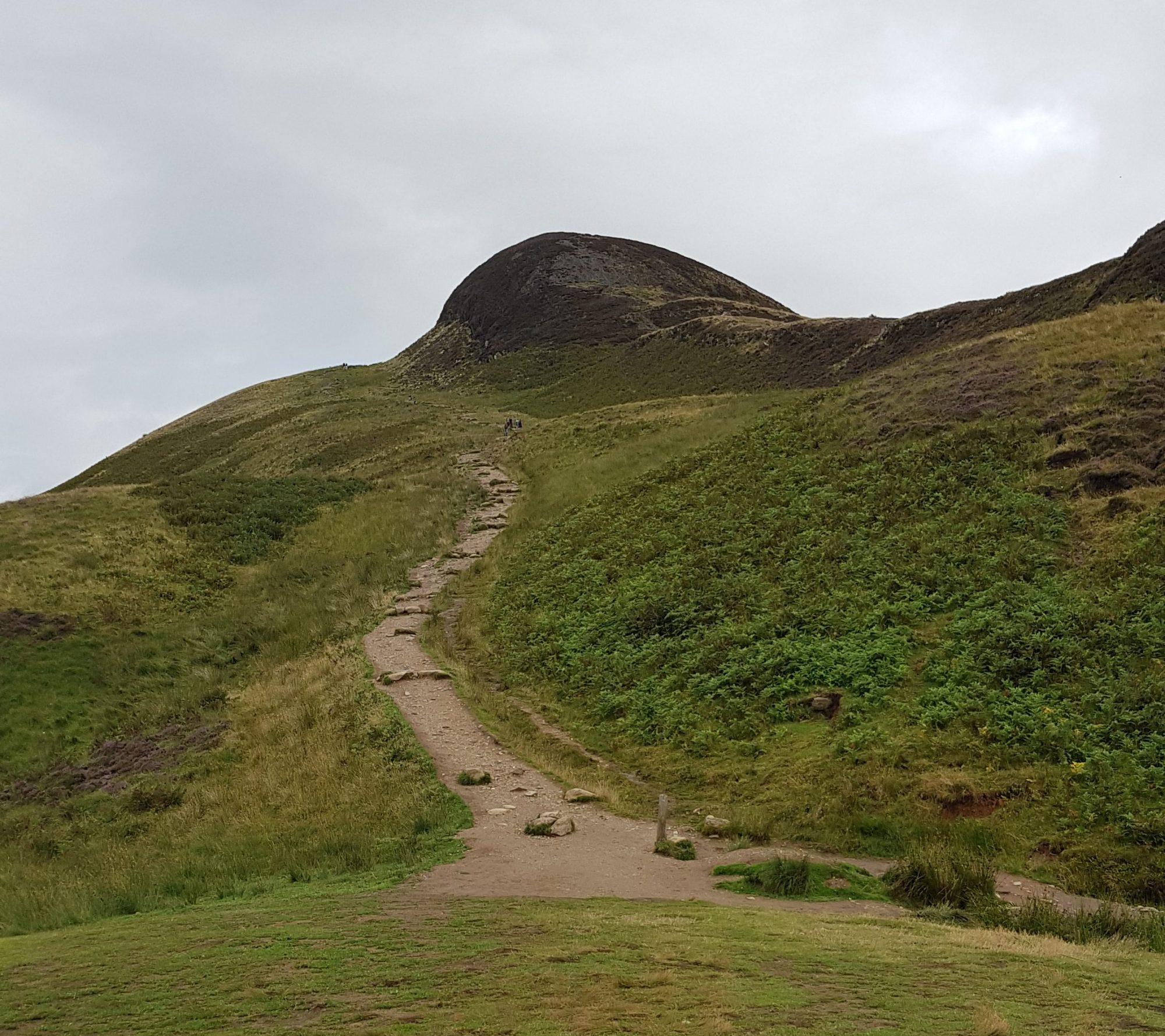 Letzter Anstieg zum Conic Hill, West Highland Way, Schottland, Wanderung, Weitwandern, Trekking, Highlands