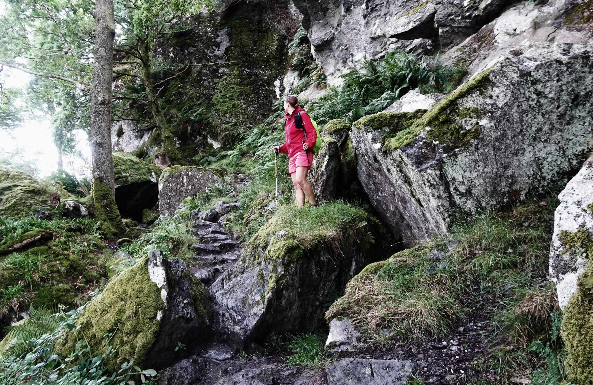 Ausschau halten nach Rob Roys Höhle, West Highland Way, Schottland, Wanderung, Weitwandern, Trekking, Highlands