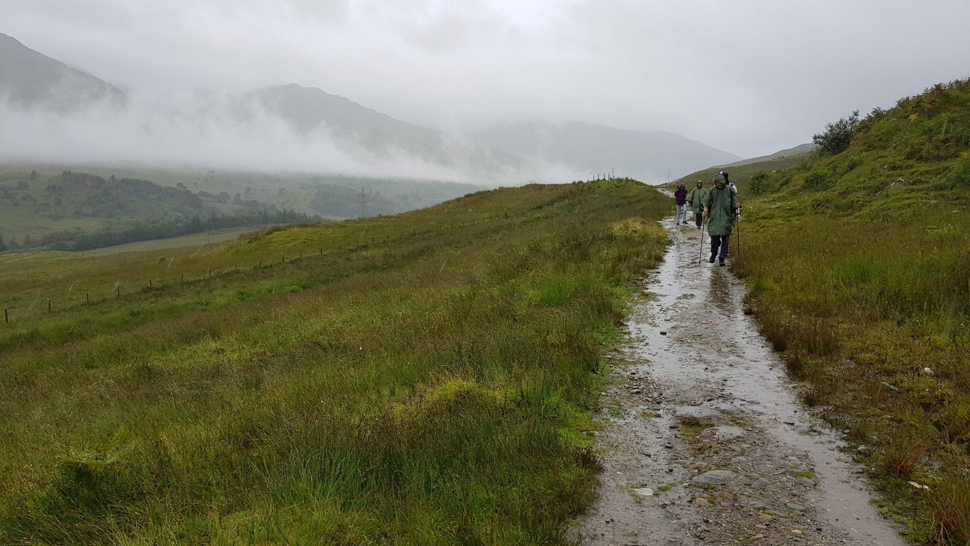 Regen auf dem West Highland Way, Schottland, Wanderung, Weitwandern, Trekking, Highlands