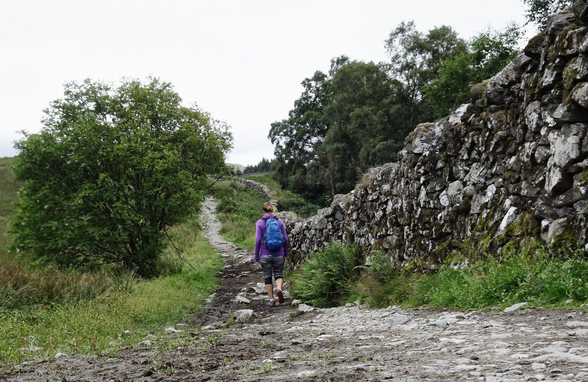 Mauer, Wanderweg, West Highland Way, Schottland, Wanderung, Weitwandern, Trekking, Highlands