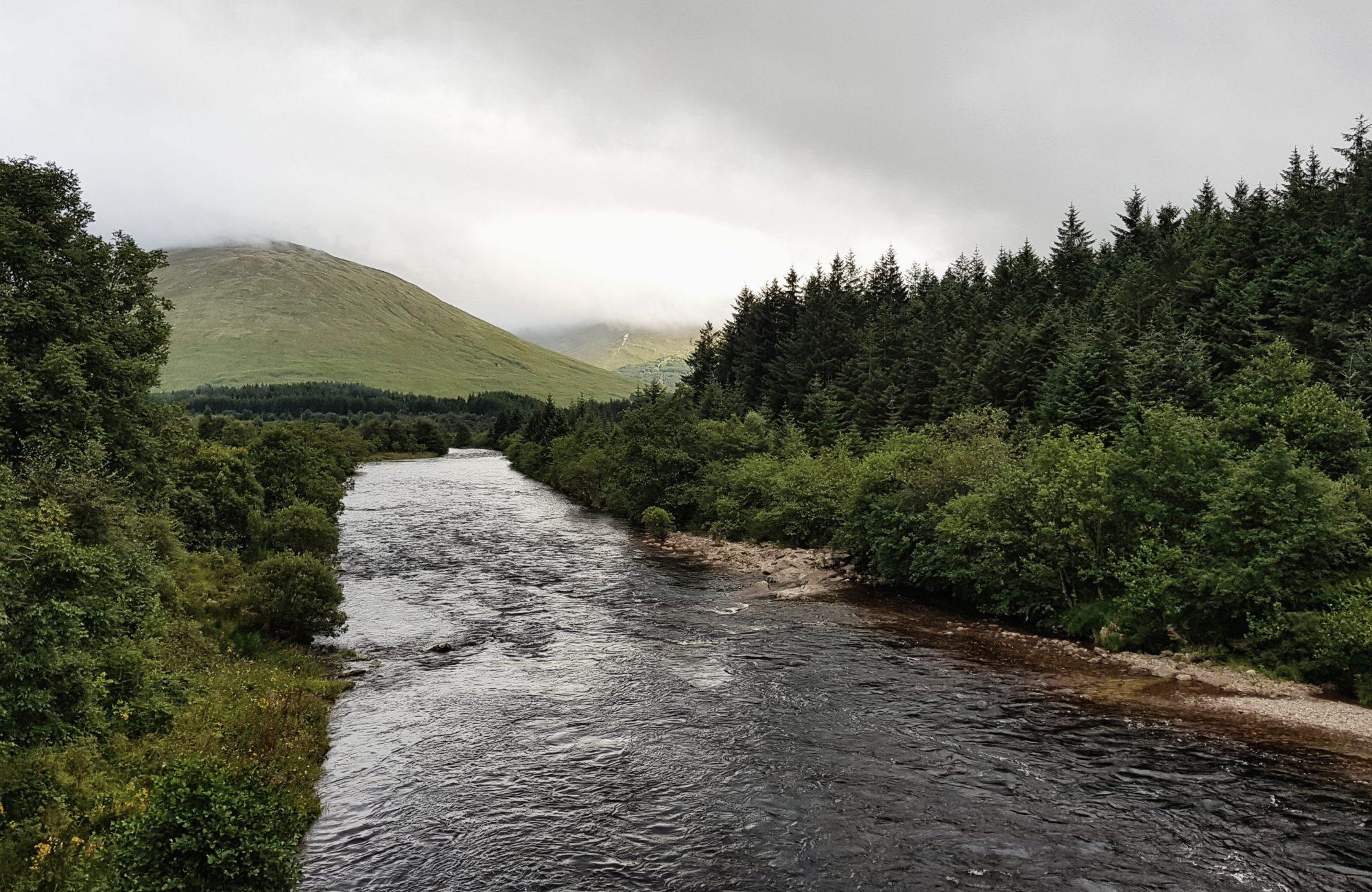 Blick von der Bridge of Orchy, West Highland Way, Schottland, Wanderung, Weitwandern, Trekking, Highlands