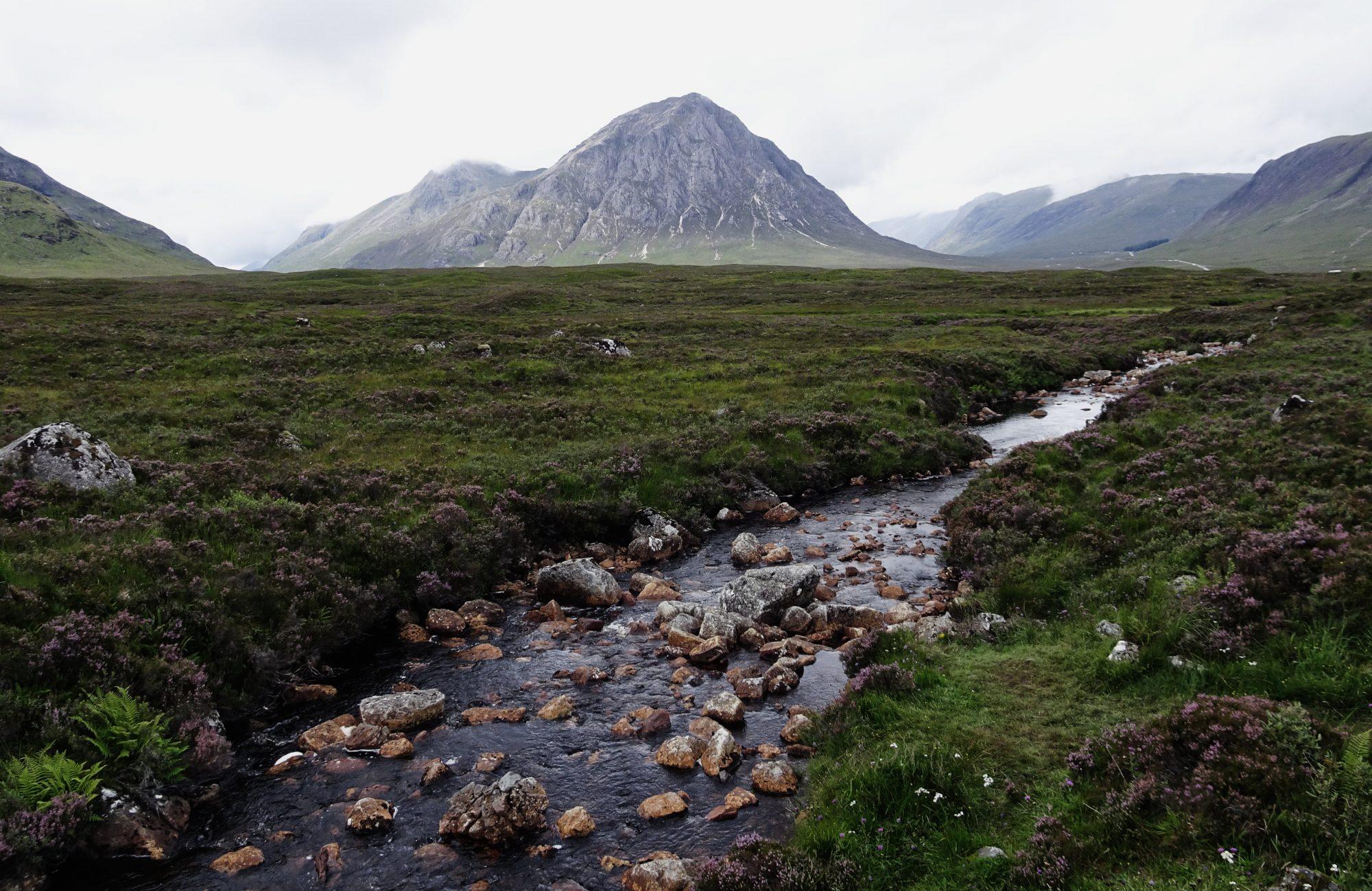 Mein Lieblingsberg in Sicht, Stob Dearg und Blick aufs Glencoe Tal, West Highland Way, Schottland, Wanderung, Weitwandern, Trekking, Highlands