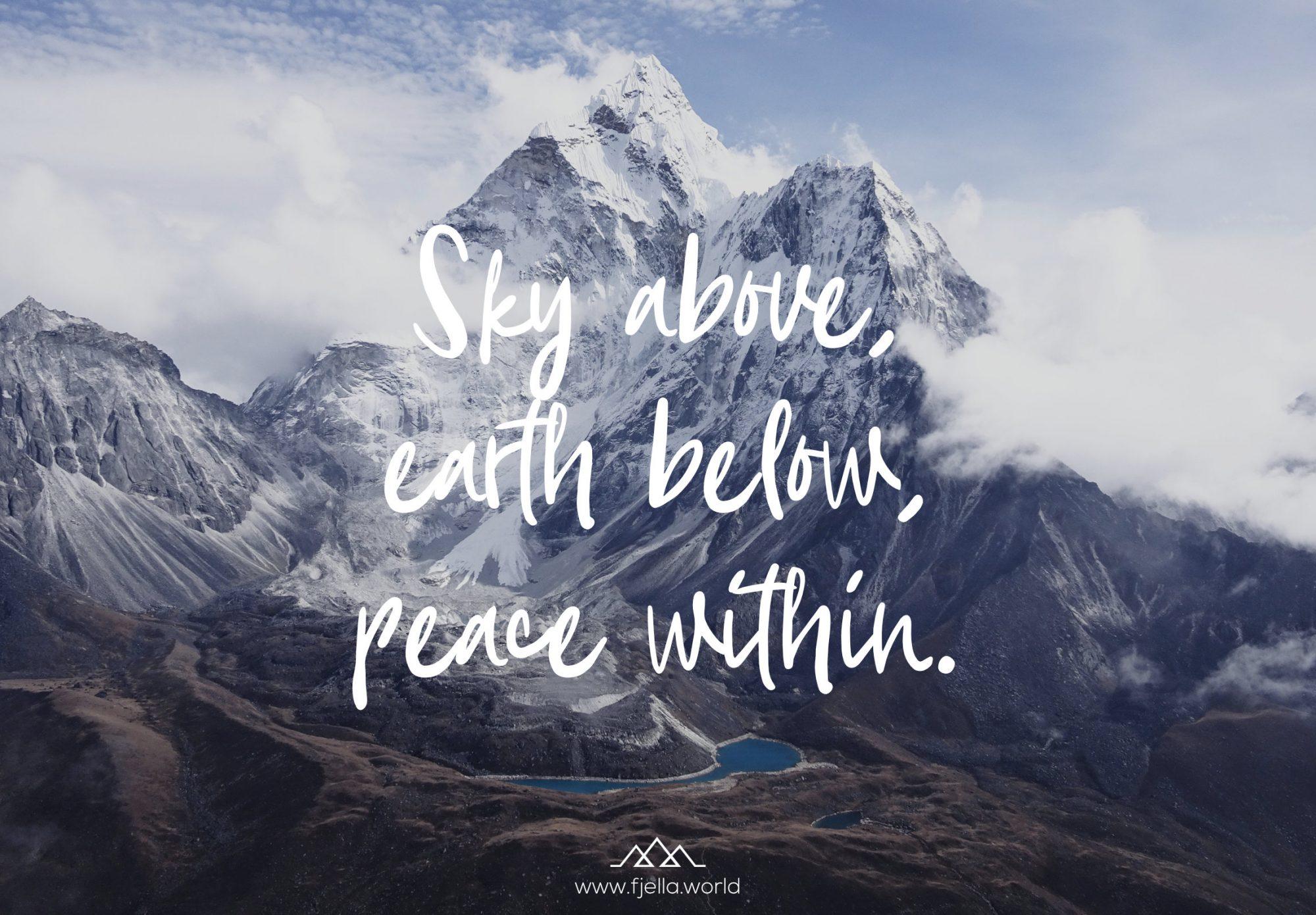 Aim High Inspirierende Wandersprüche Und Bergzitate