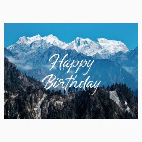 Happy Birthday Postkarte Geburtstag Bergfans