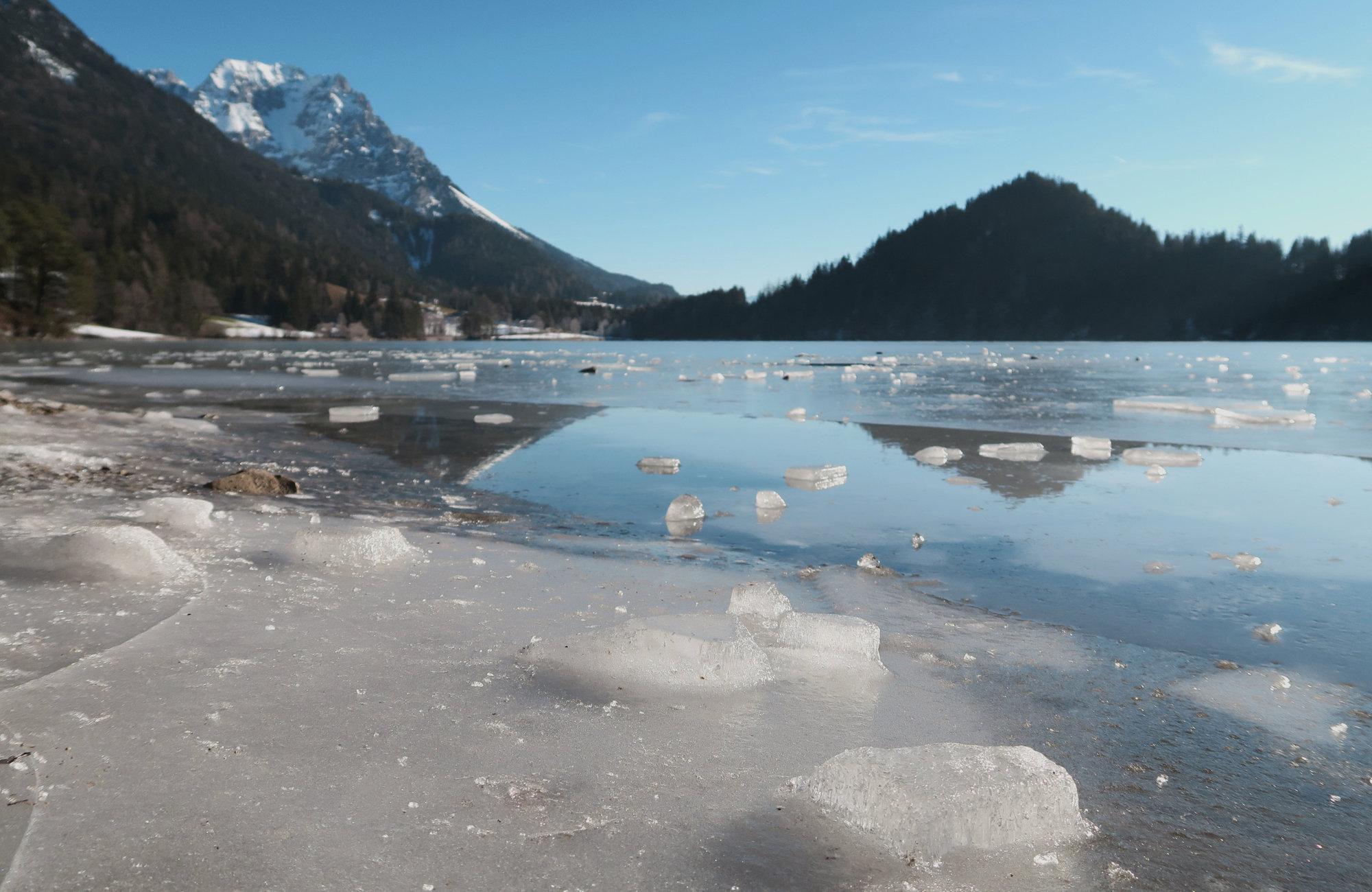 Hintersteiner See im Winter, Wilder Kaiser, Tirol, Österreich