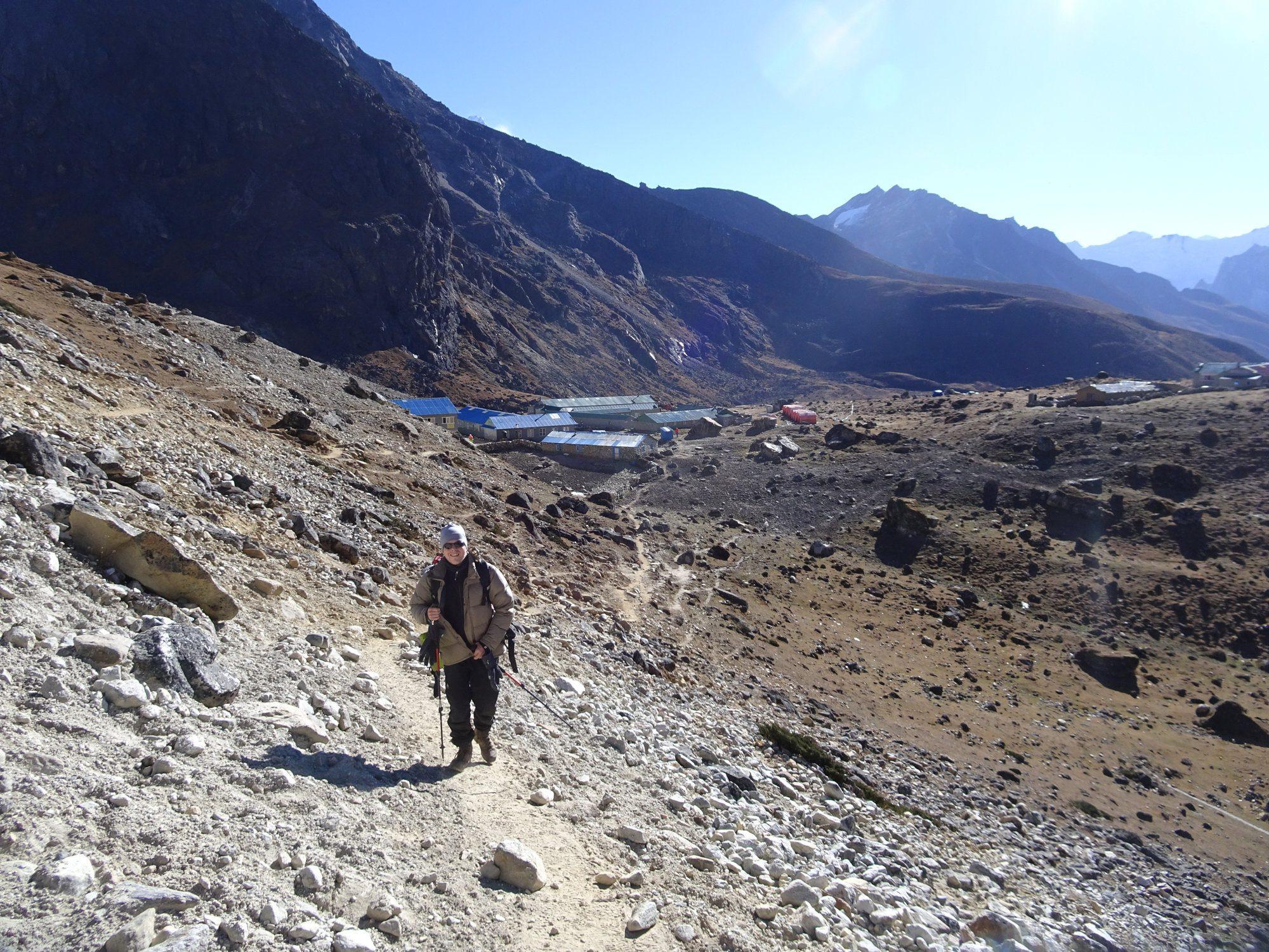 Trekking in Nepal im Everest Gebiet, auf dem Weg zum Cho La Pass