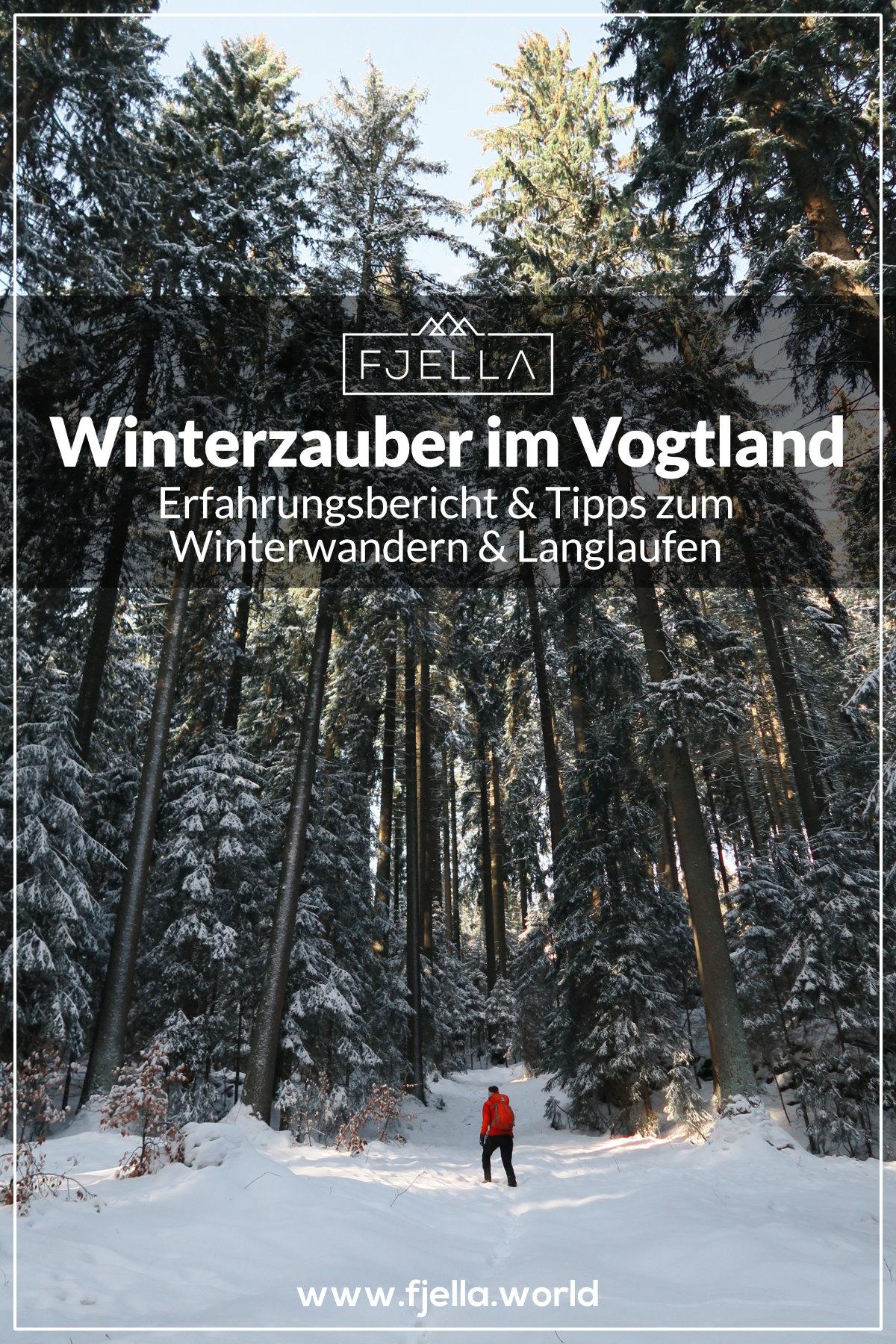Winterzauber im Vogtland, Winterwandern und Langlaufen