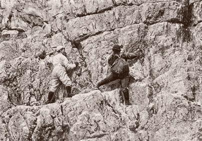 Jeanne Immink klettert in den Dolomiten