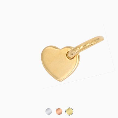 Fjella Herzanhänger Vergoldet Freigestellt Buttons Webseite 2020, Herzchenanhänger
