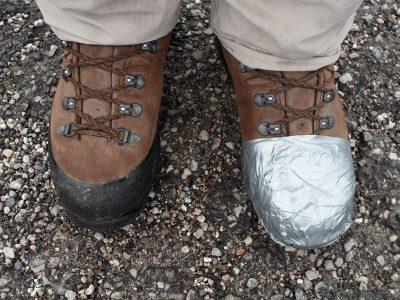 Schuhe kaputt!