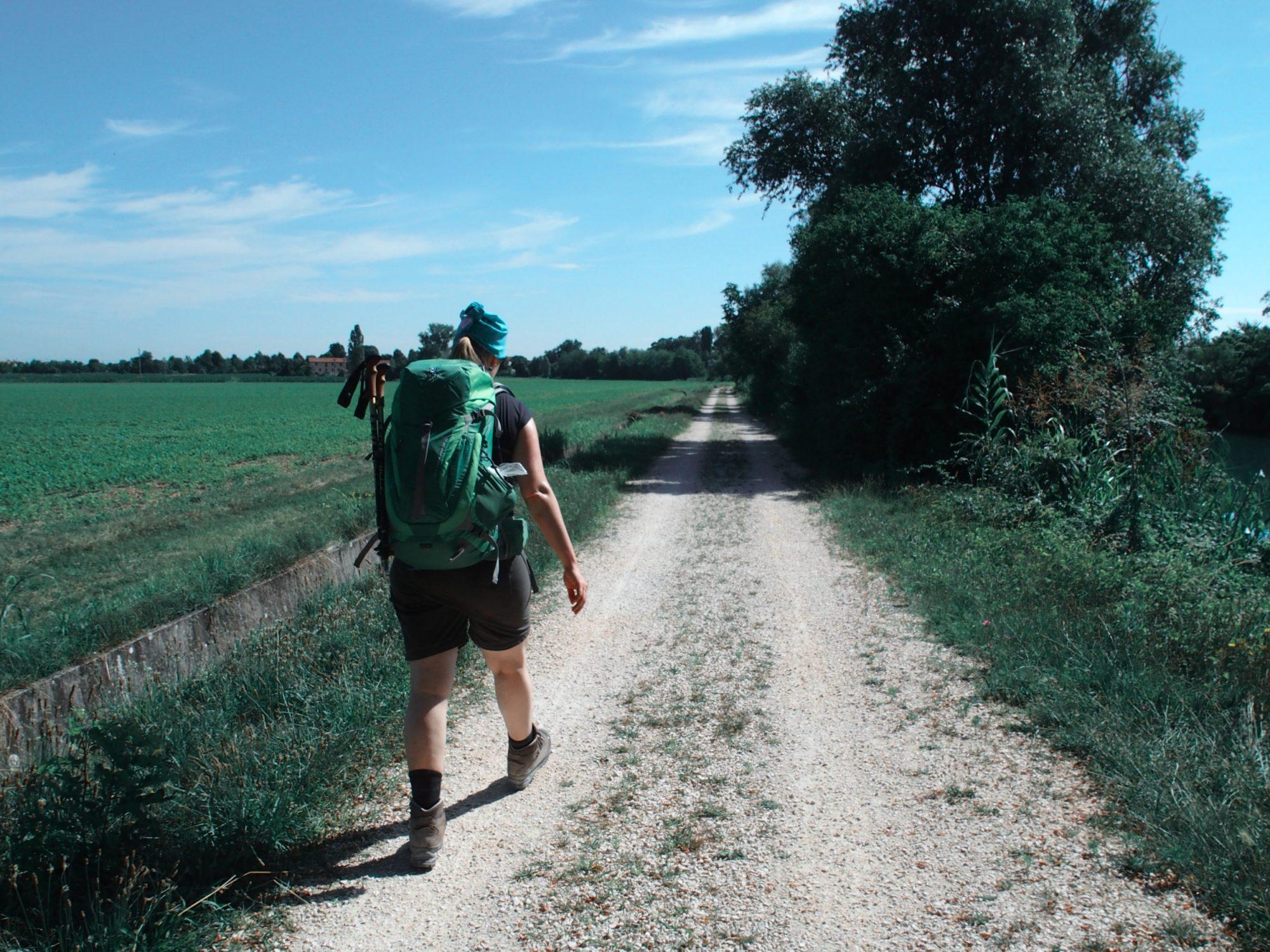 Wandern in der Hitze, Traumpfad Venedig-München