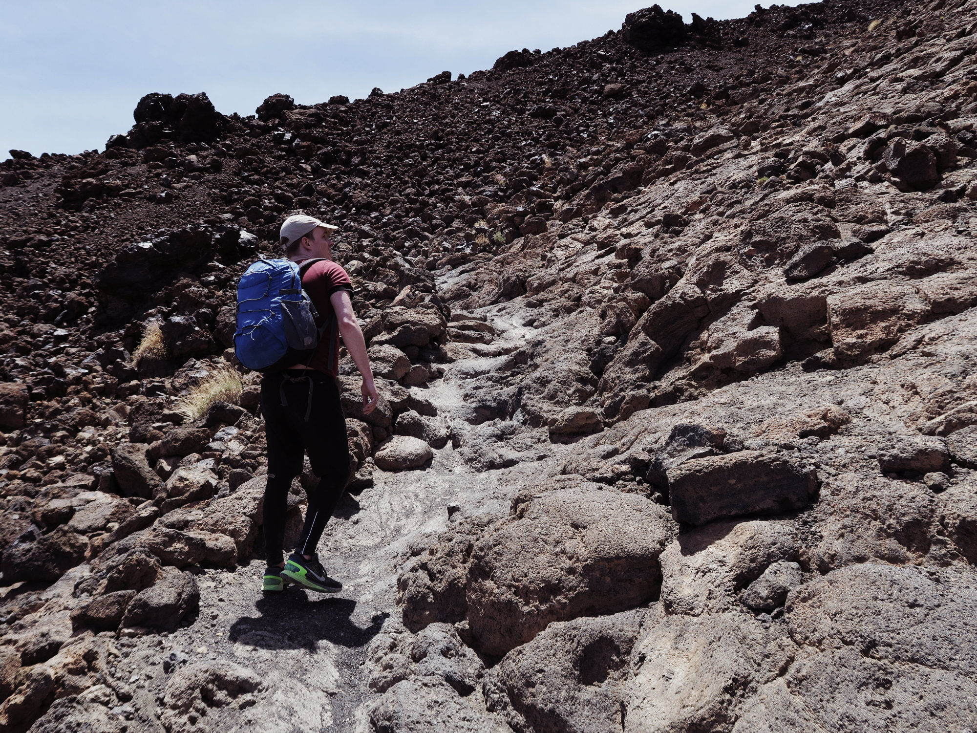 Aufstieg zur Hütte Refugio Altavista, Teide, Teneriffa