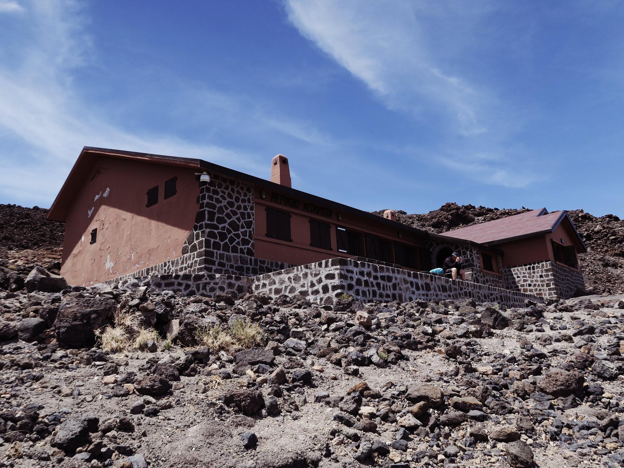 Refugio Altavista, die Altavista Hütte auf dem Teide, Teneriffa