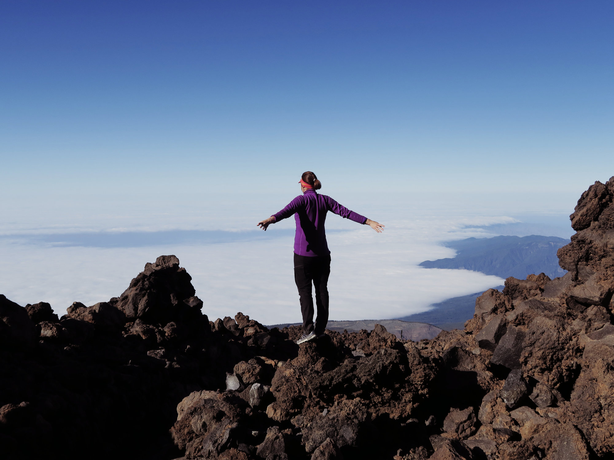 Über dem Wolkenmeer am Teide Nationalpark