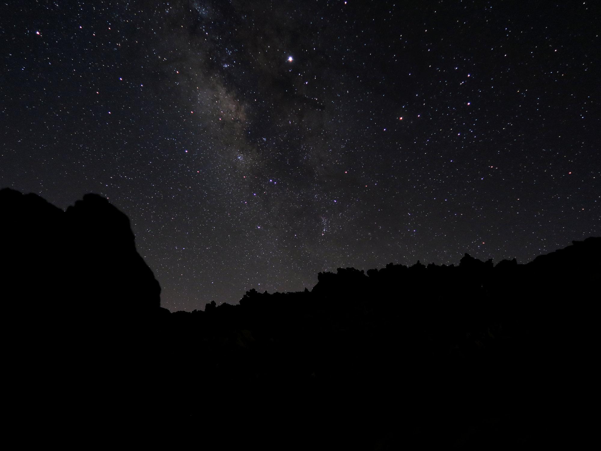 Milchstraße bei Nacht im Teide Nationalpark, Teneriffa