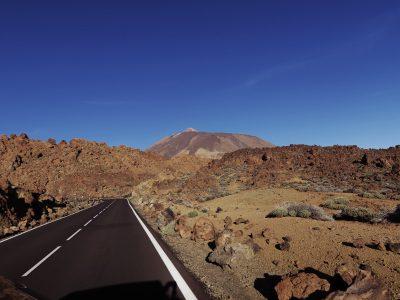 Fahrt mit Blick auf den Teide, Fjella Teneriffa Teide Überschreitung