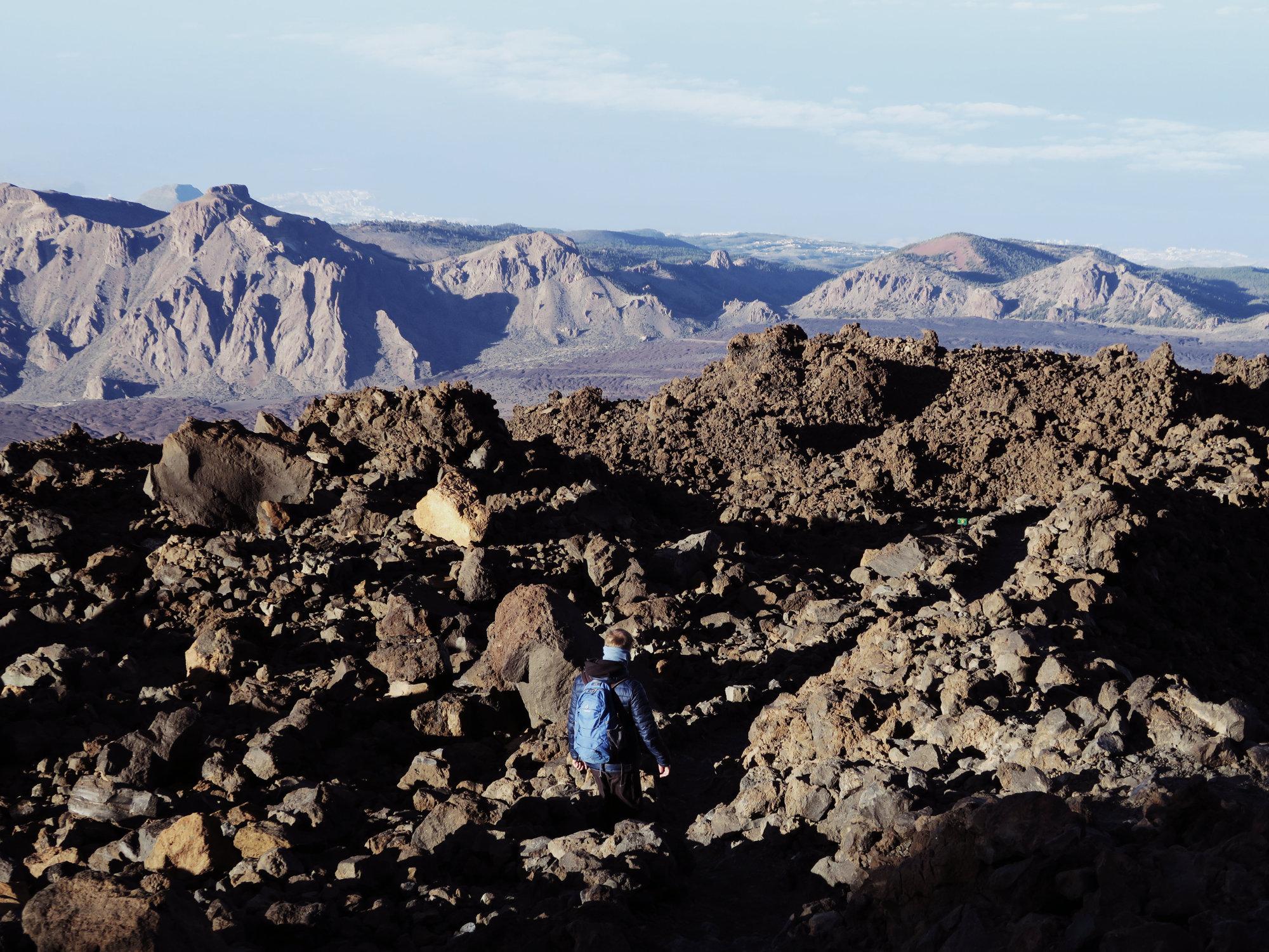 Felsiges Gelände auf dem Teide, Teide Überschreitung
