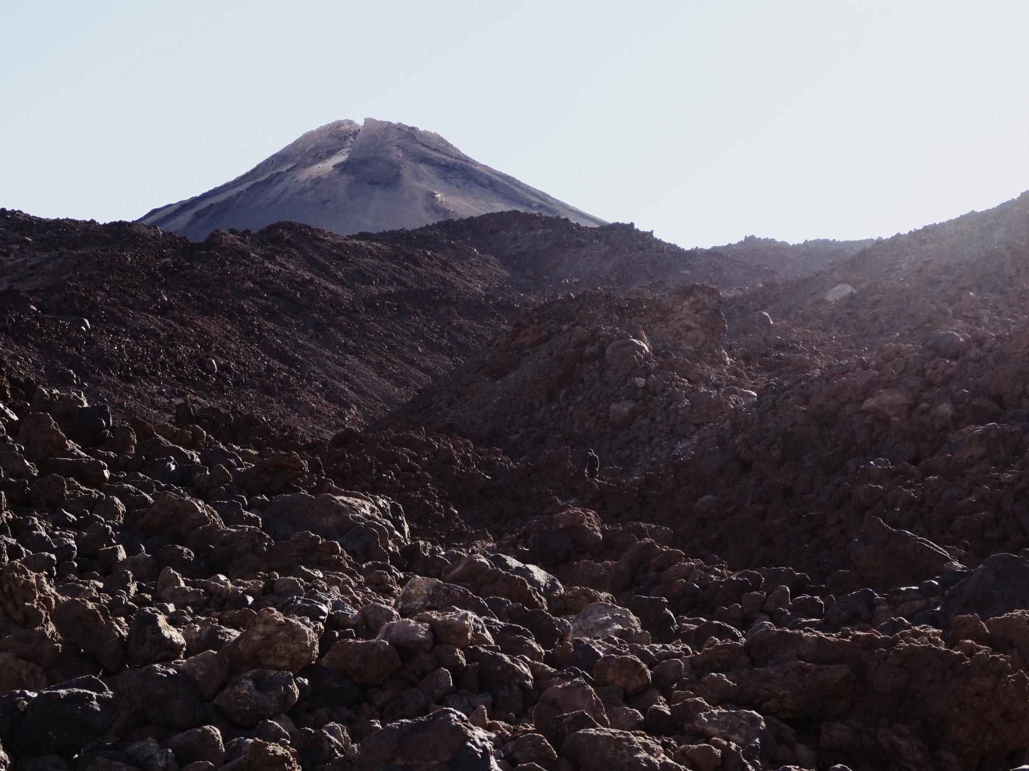 Raues Gelände auf dem Teide