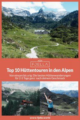 Hüttenwanderungen in den Alpen Fjella