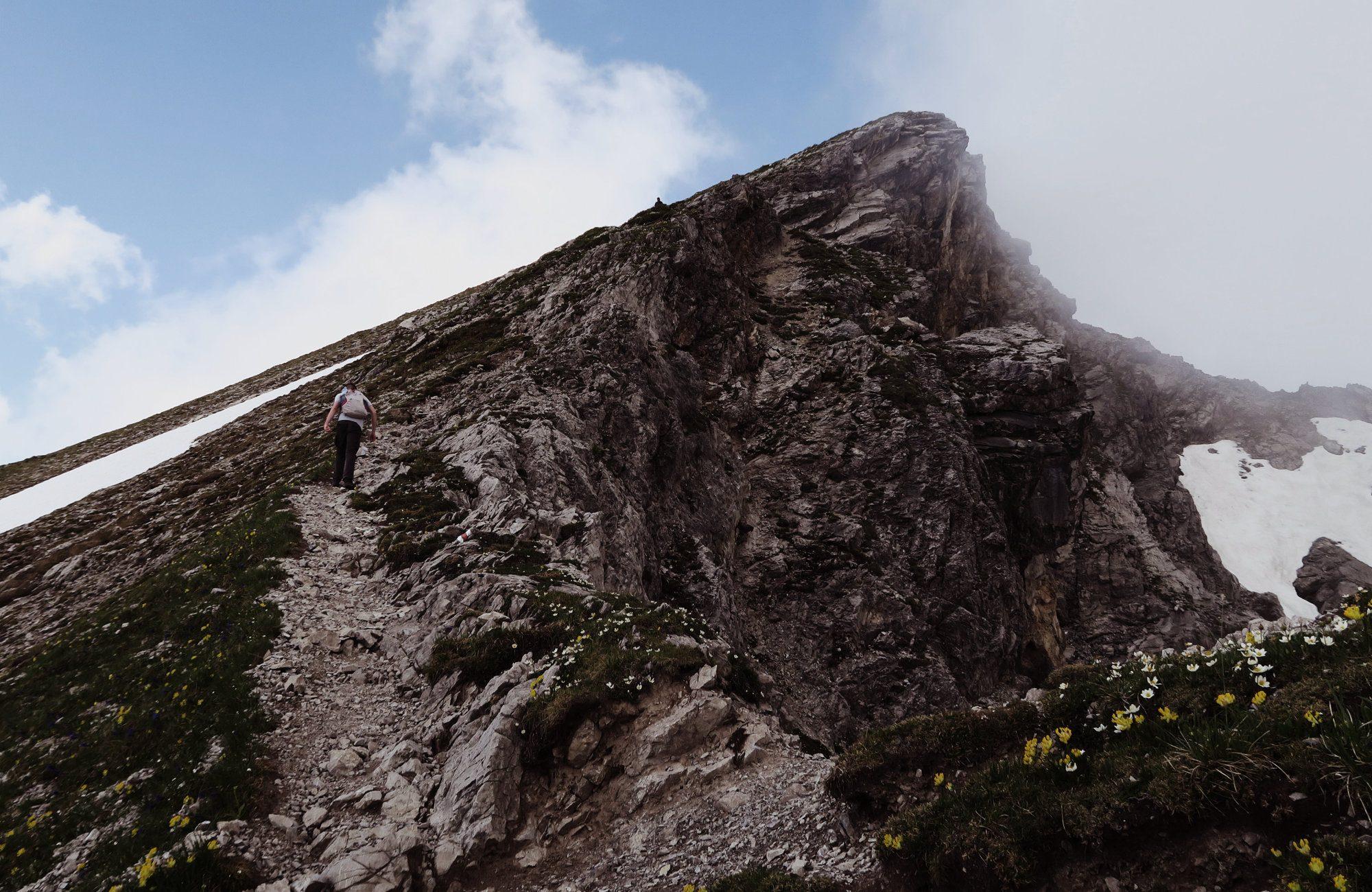 Der Aufstieg zum Geißhorn, Kleinwalsertal, Gemsteltal